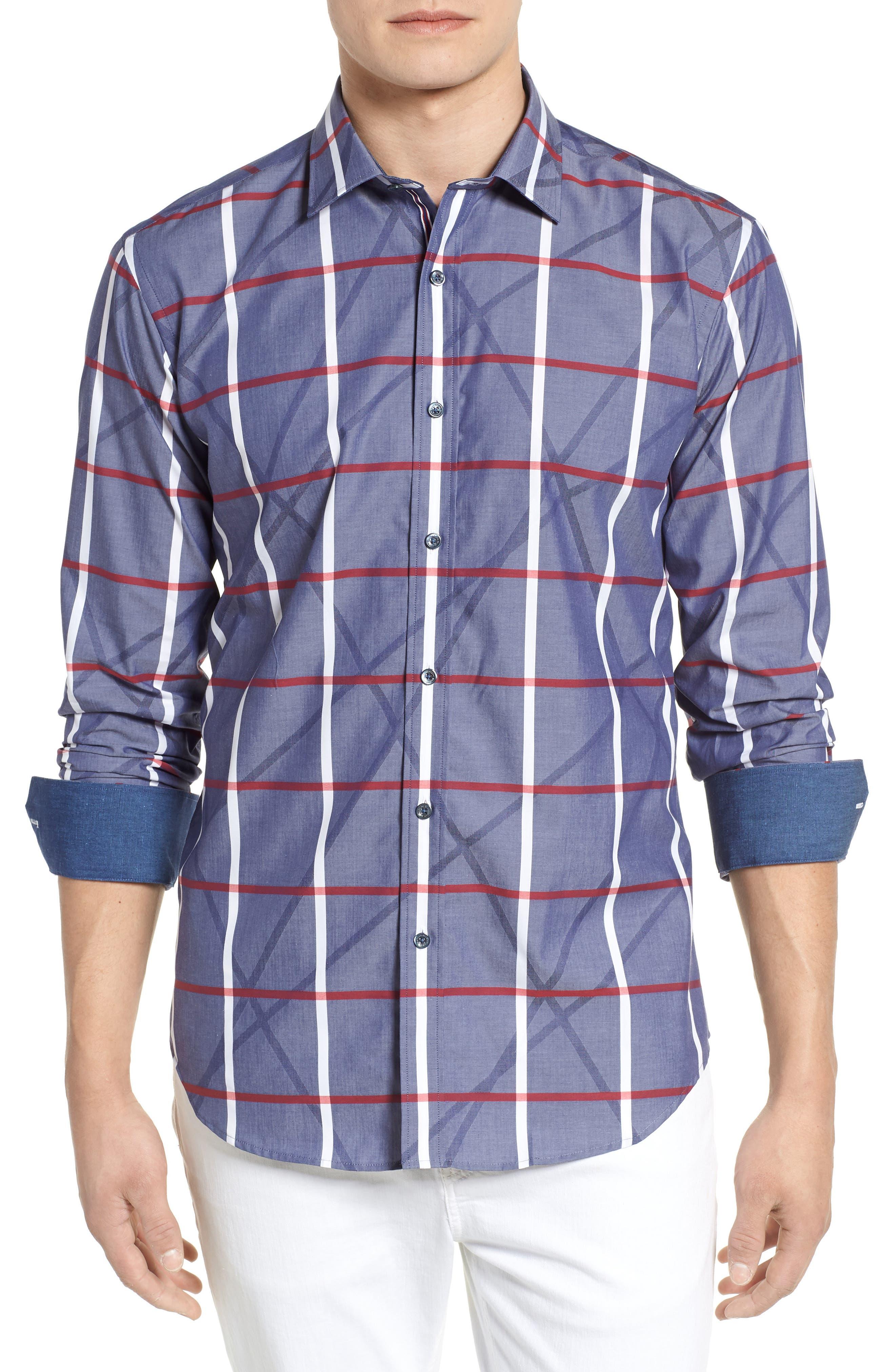 Woven Sport Shirt,                         Main,                         color, 411