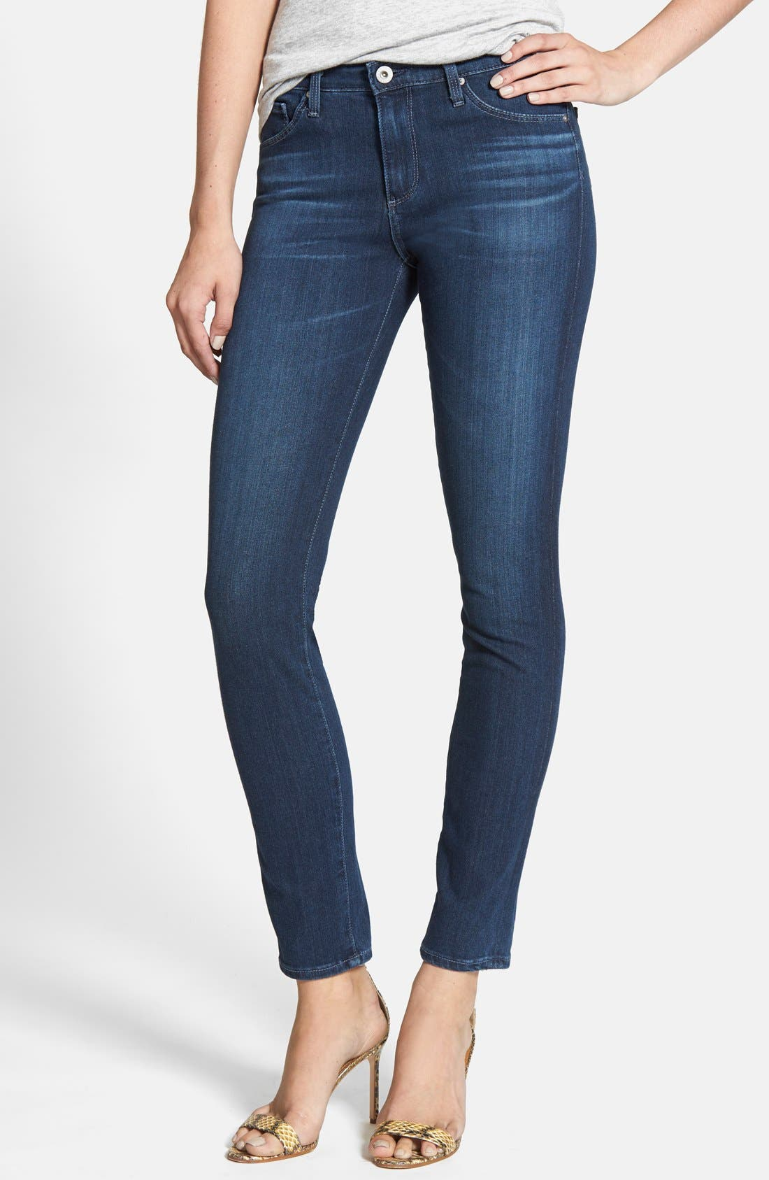 'Contour 360 - The Prima' Cigarette Leg Skinny Jeans,                             Main thumbnail 1, color,                             400