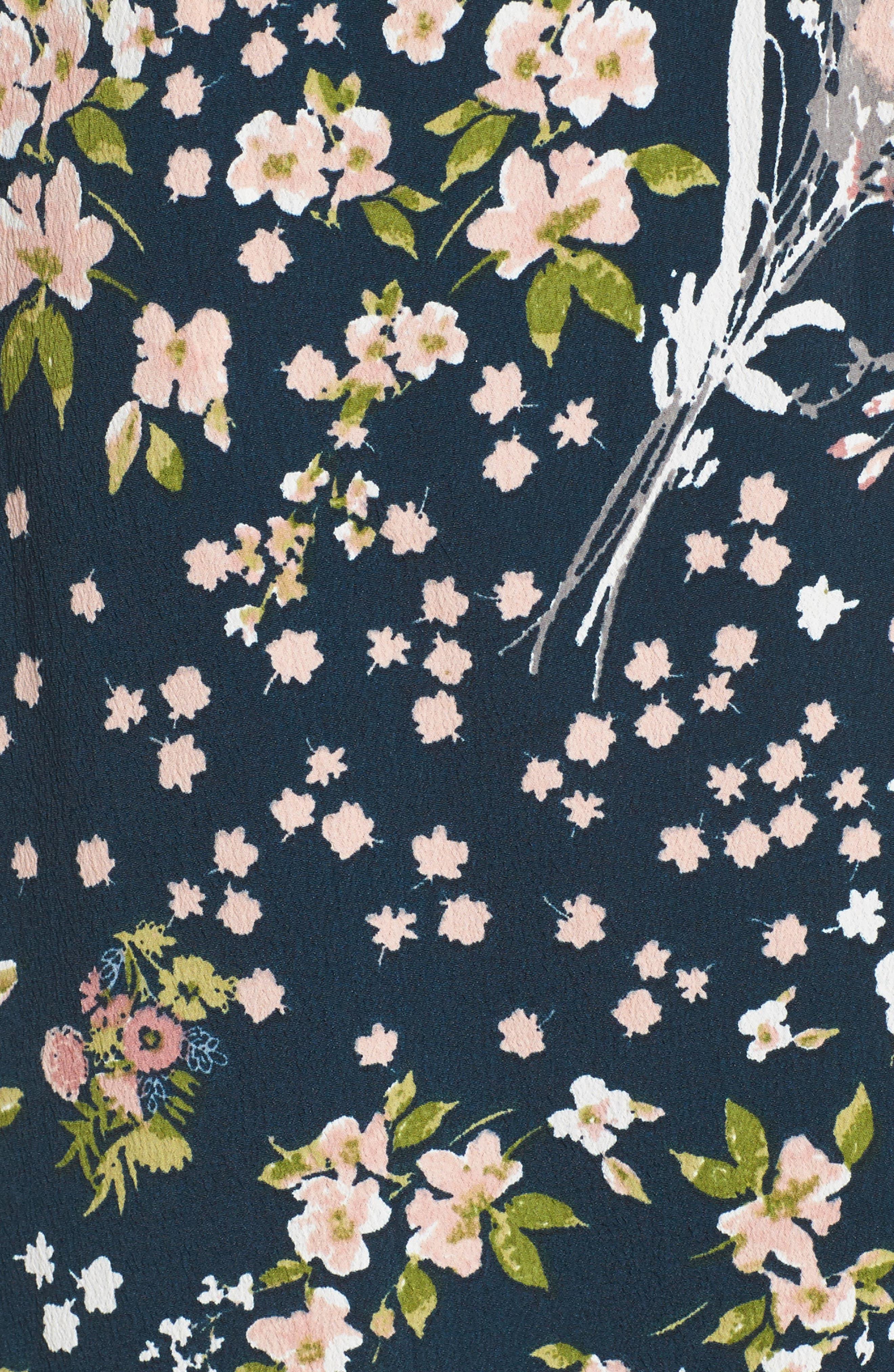 Moody Floral Print Maxi Romper,                             Alternate thumbnail 5, color,
