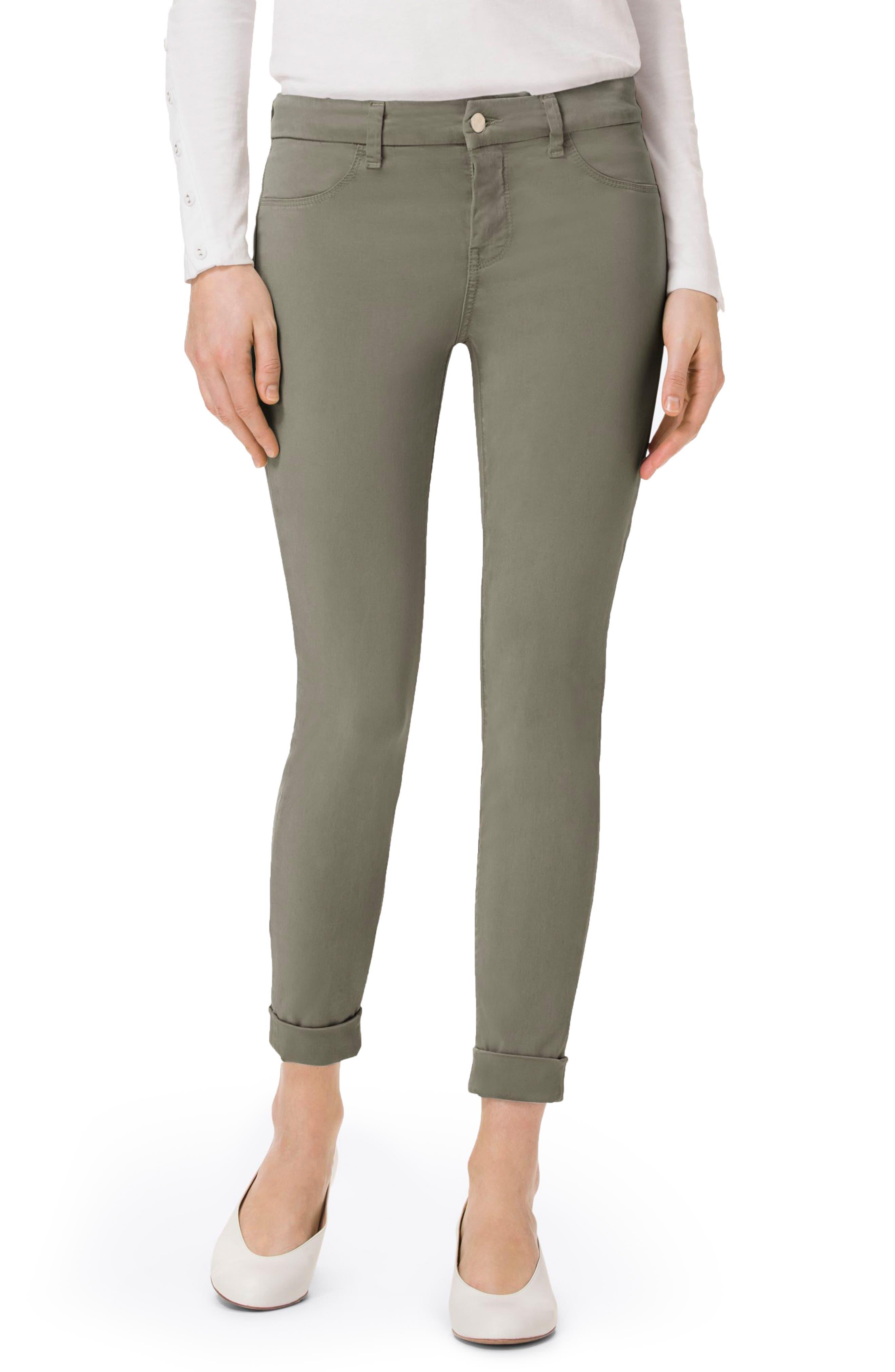 'Anja' Cuffed Crop Skinny Jeans,                             Main thumbnail 6, color,