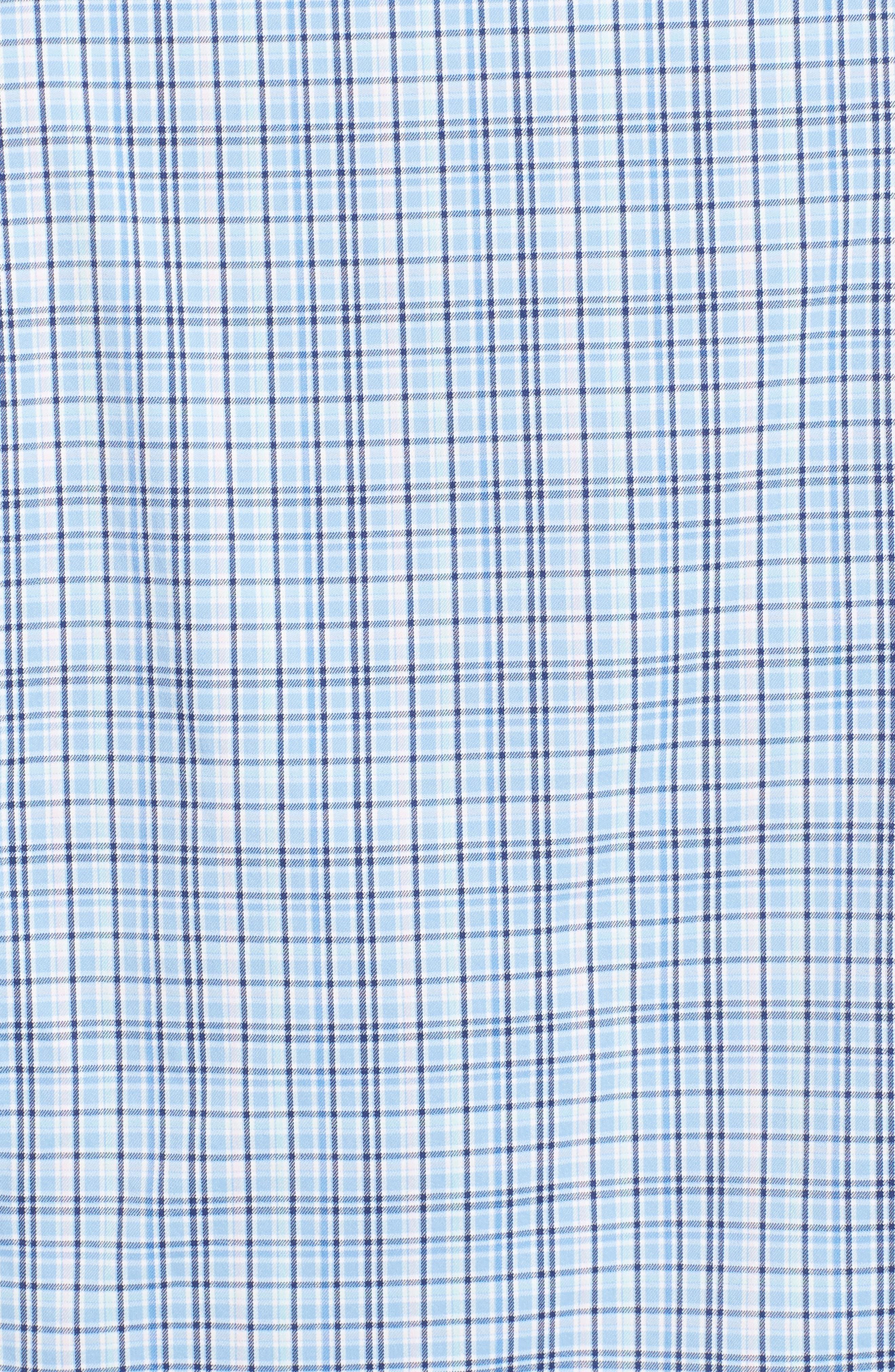 Jojo Check Performance Sport Shirt,                             Alternate thumbnail 5, color,                             TAHOE BLUE