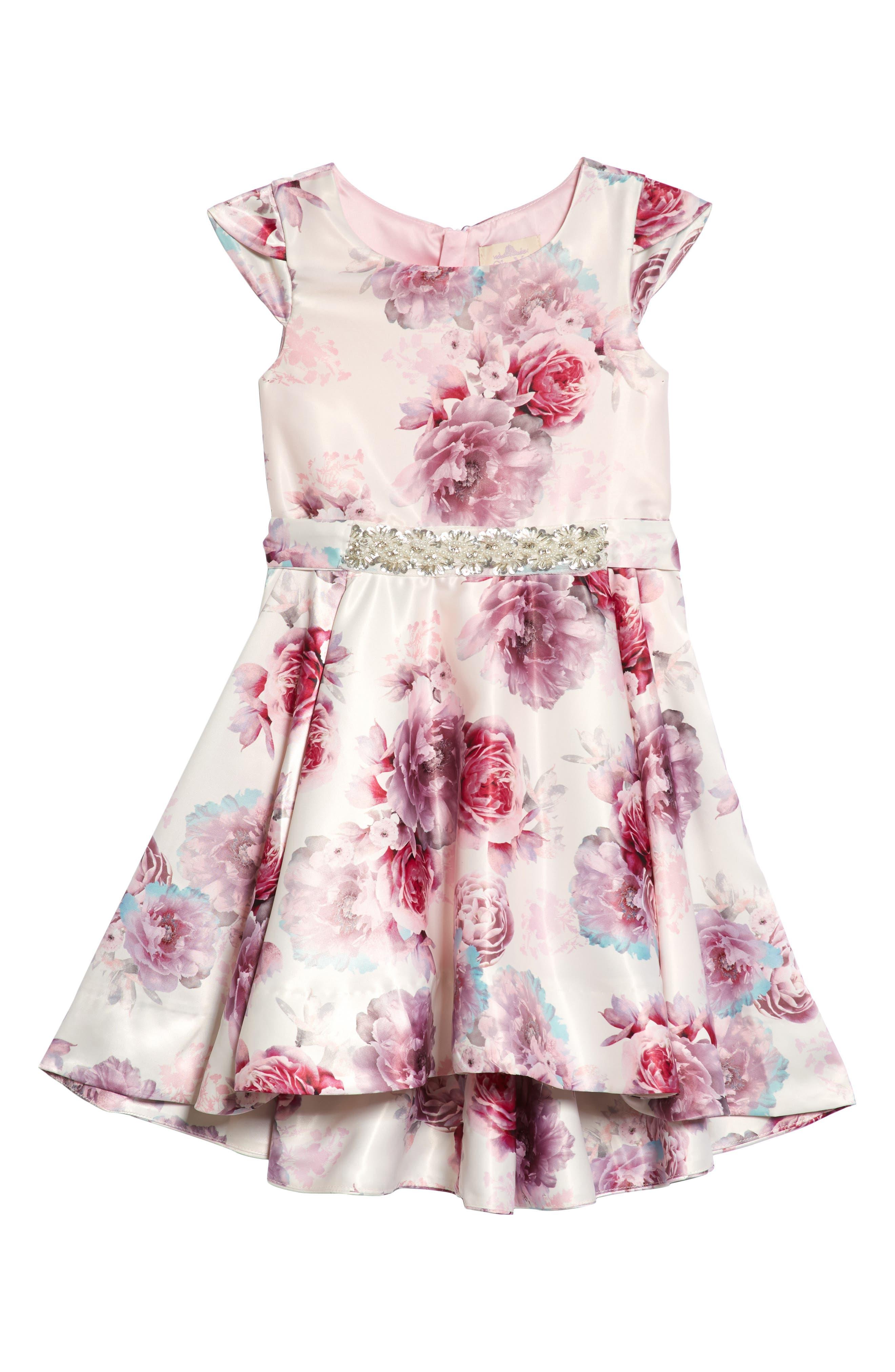 Ana Embellished Floral Dress,                             Main thumbnail 1, color,                             600