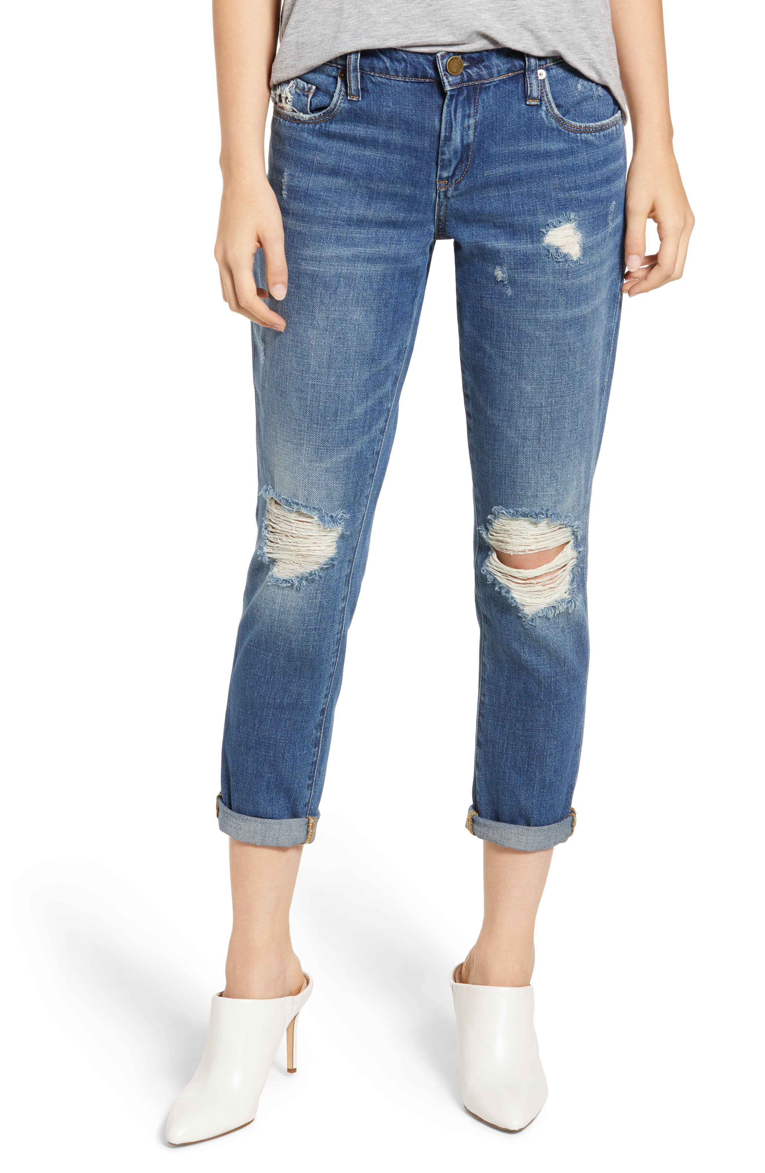 Ludlow Ripped Crop Girlfriend Jeans, Main, color, 420