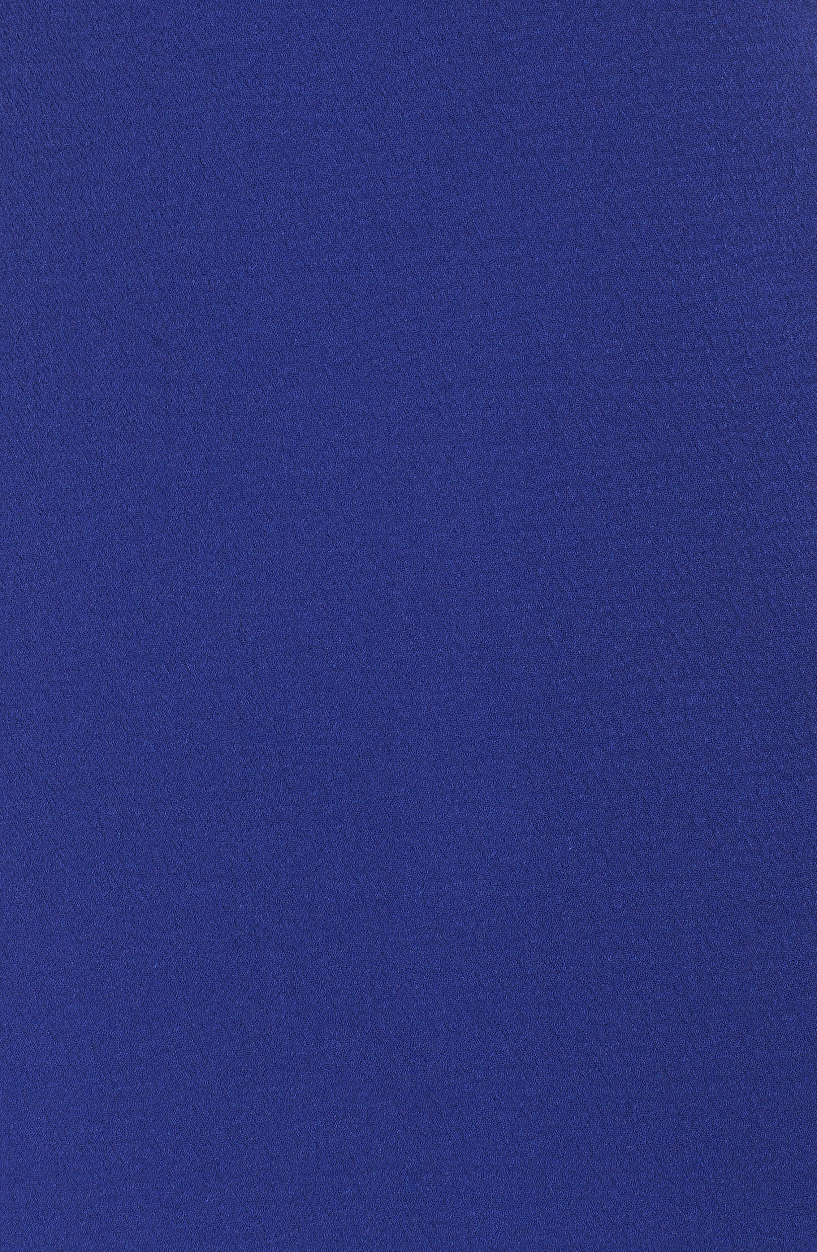 Bow Crepe A-Line Dress,                             Alternate thumbnail 6, color,                             COBALT