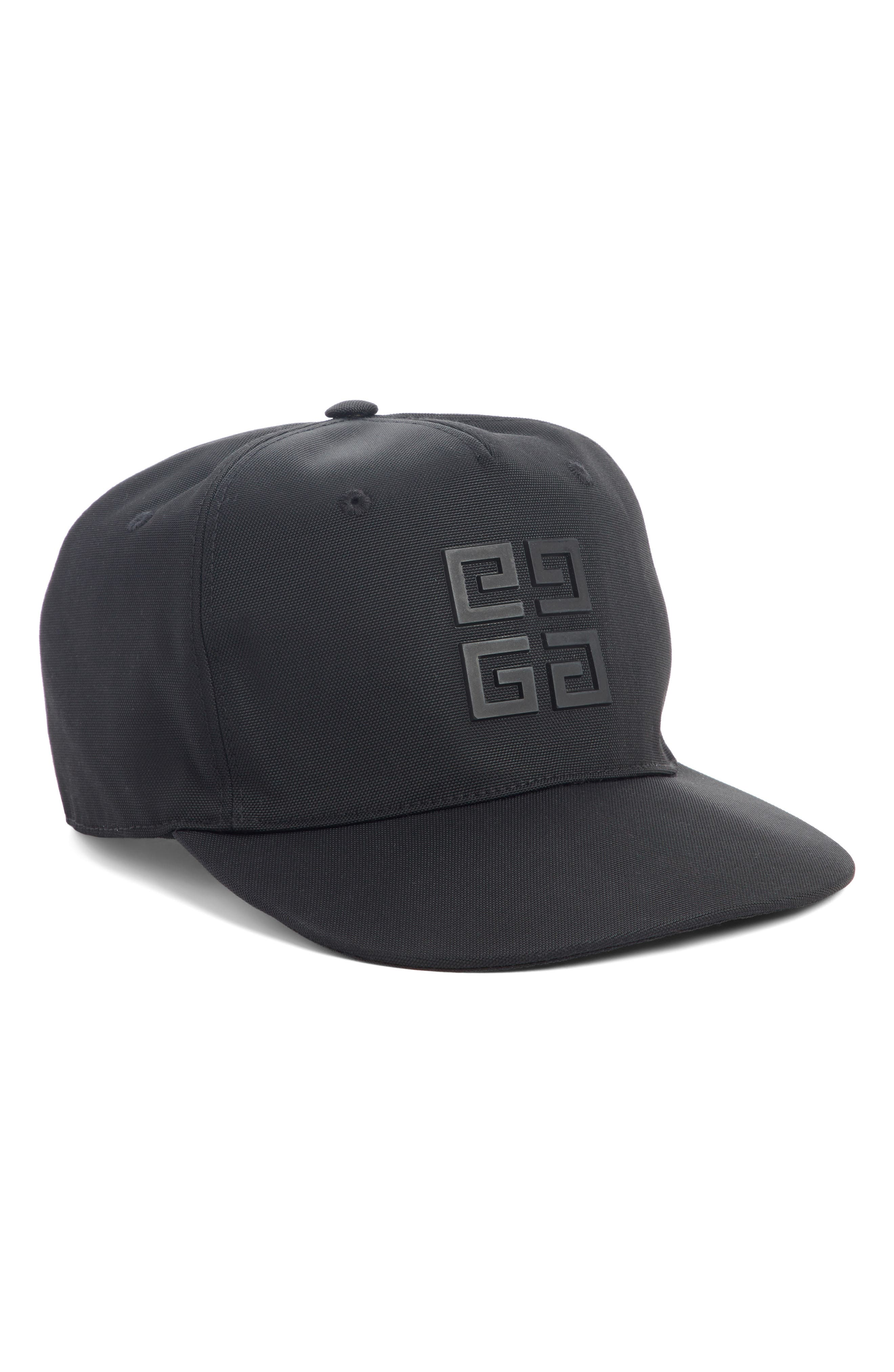 Rubber 4G Logo Cap,                             Main thumbnail 1, color,                             BLACK