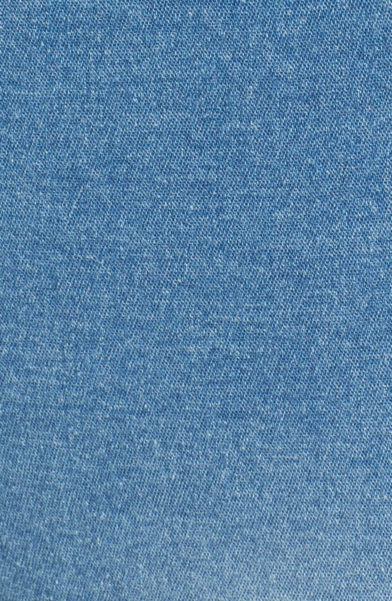 Patched Distressed Denim Skimmer Leggings,                             Alternate thumbnail 5, color,                             484