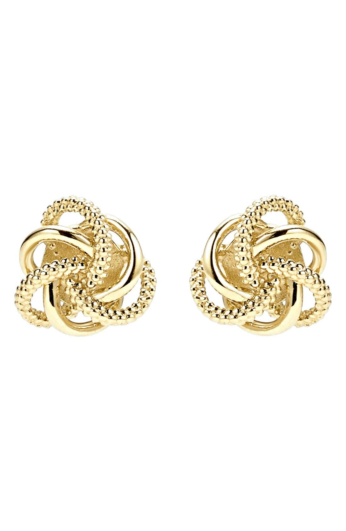 'Love Knot' Stud Earrings,                             Alternate thumbnail 2, color,                             GOLD