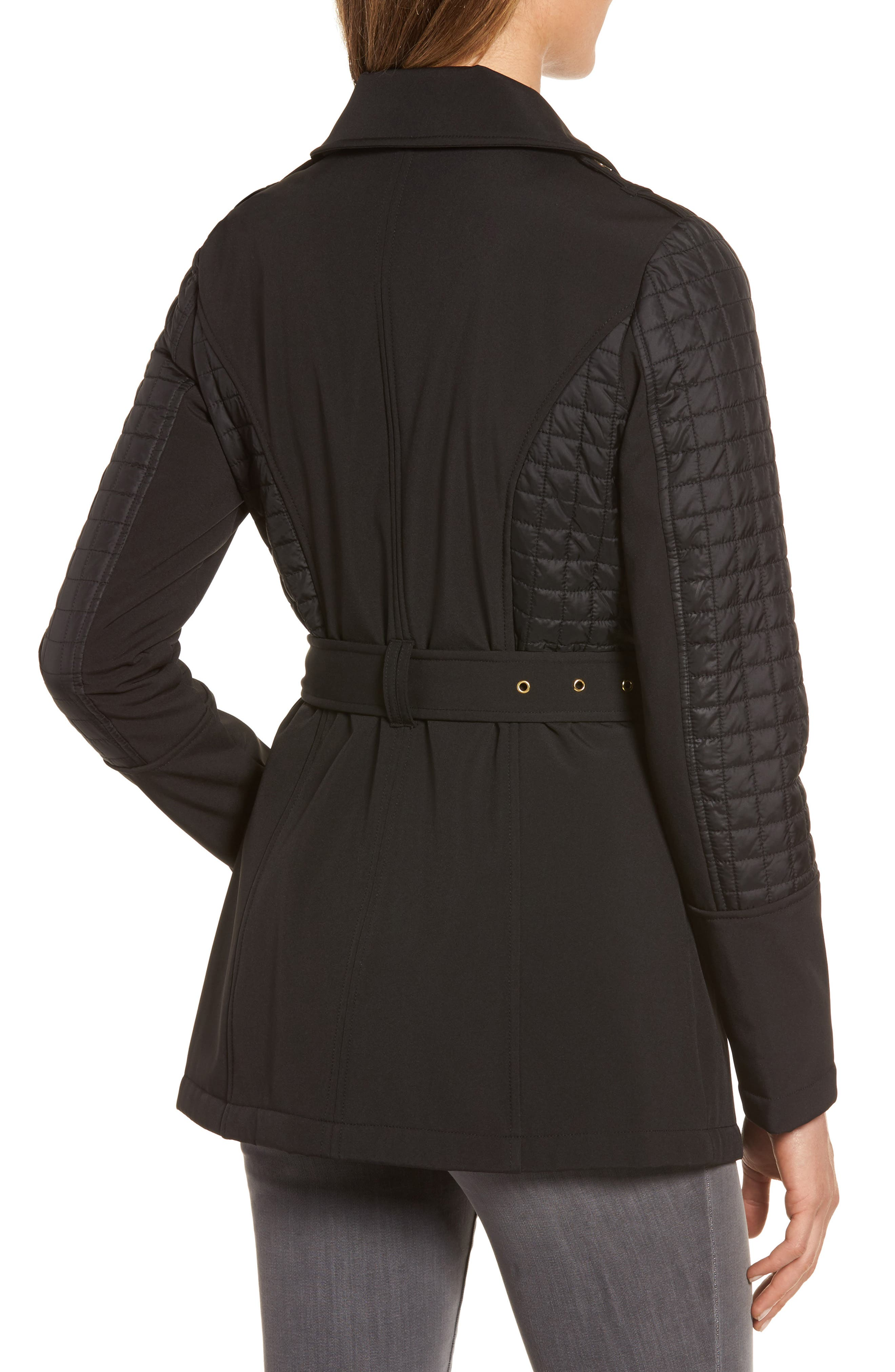 Asymmetrical Zip Coat,                             Alternate thumbnail 2, color,                             001