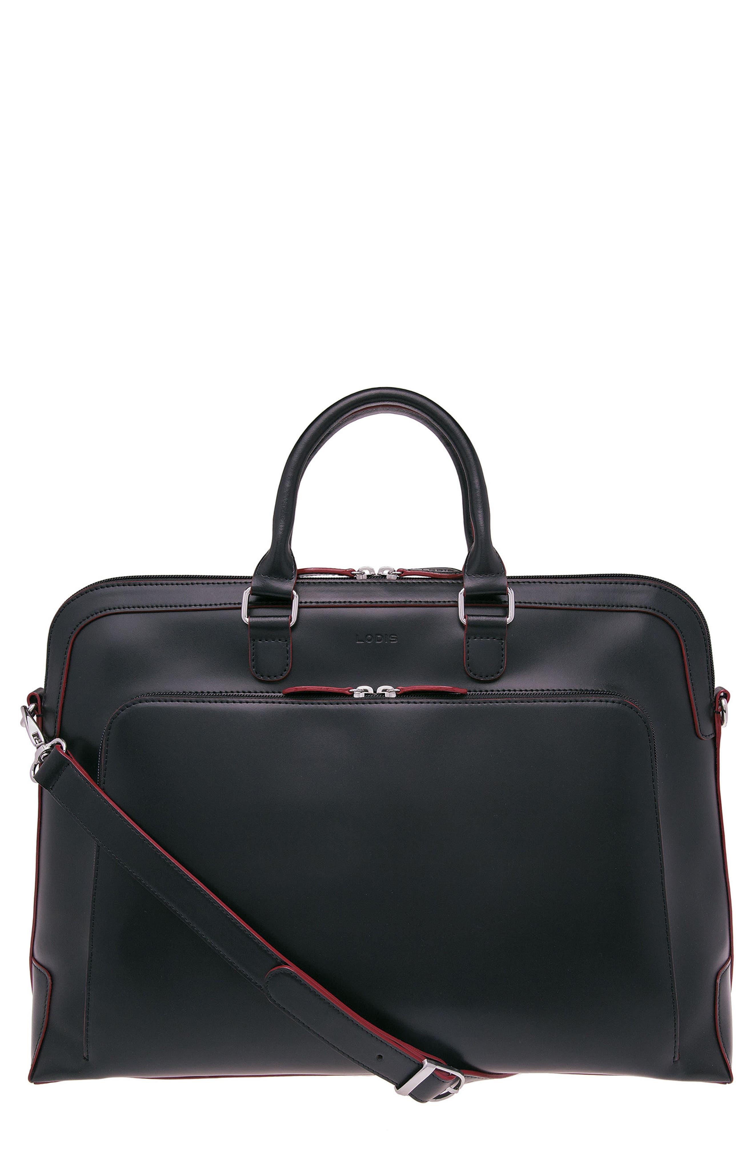 Lodis 'Audrey Brera' Leather Briefcase,                             Main thumbnail 1, color,                             001