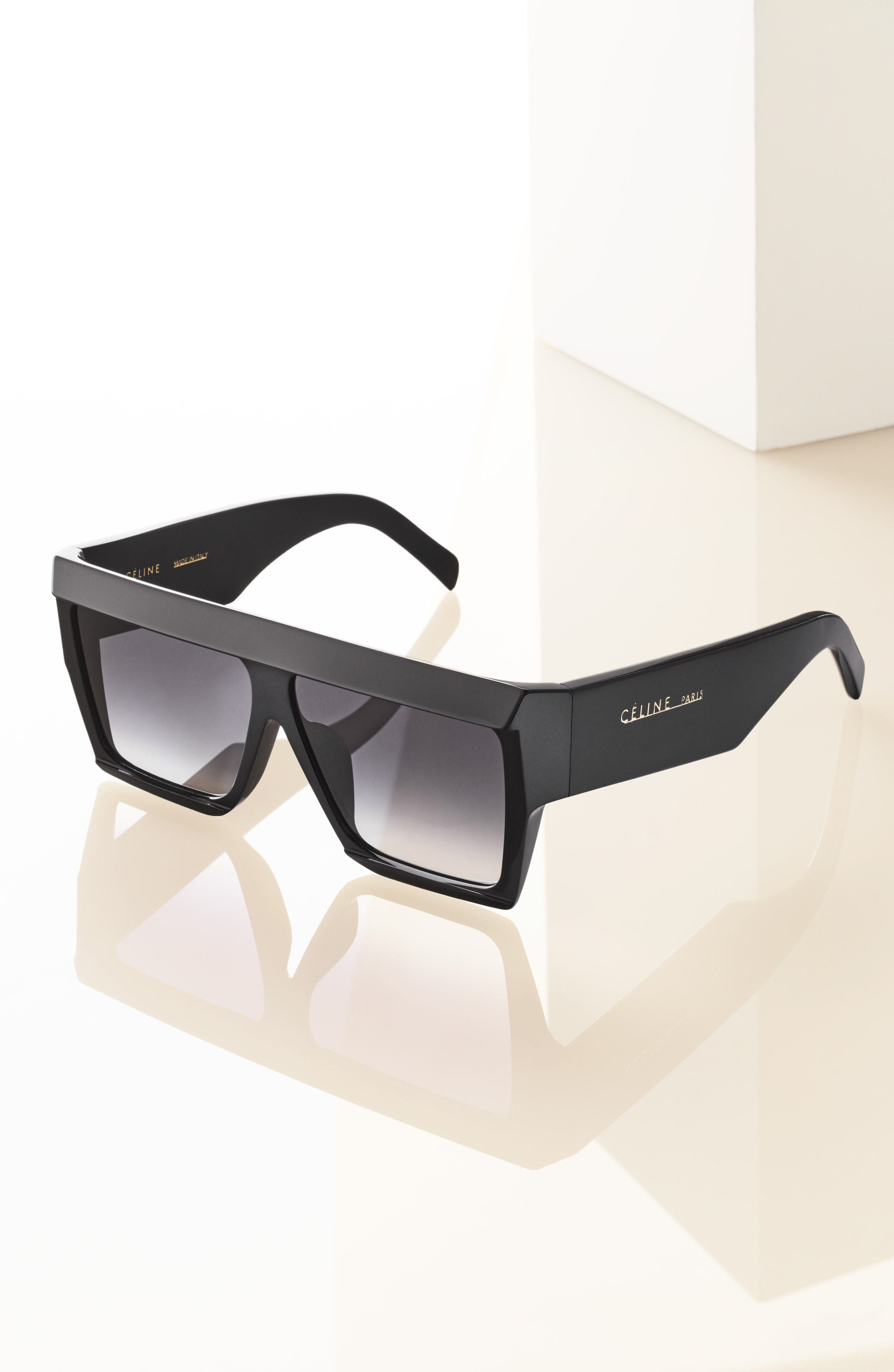 60mm Gradient Aviator Sunglasses,                             Alternate thumbnail 2, color,                             DARK HAVANA/ GOLD/ GREEN