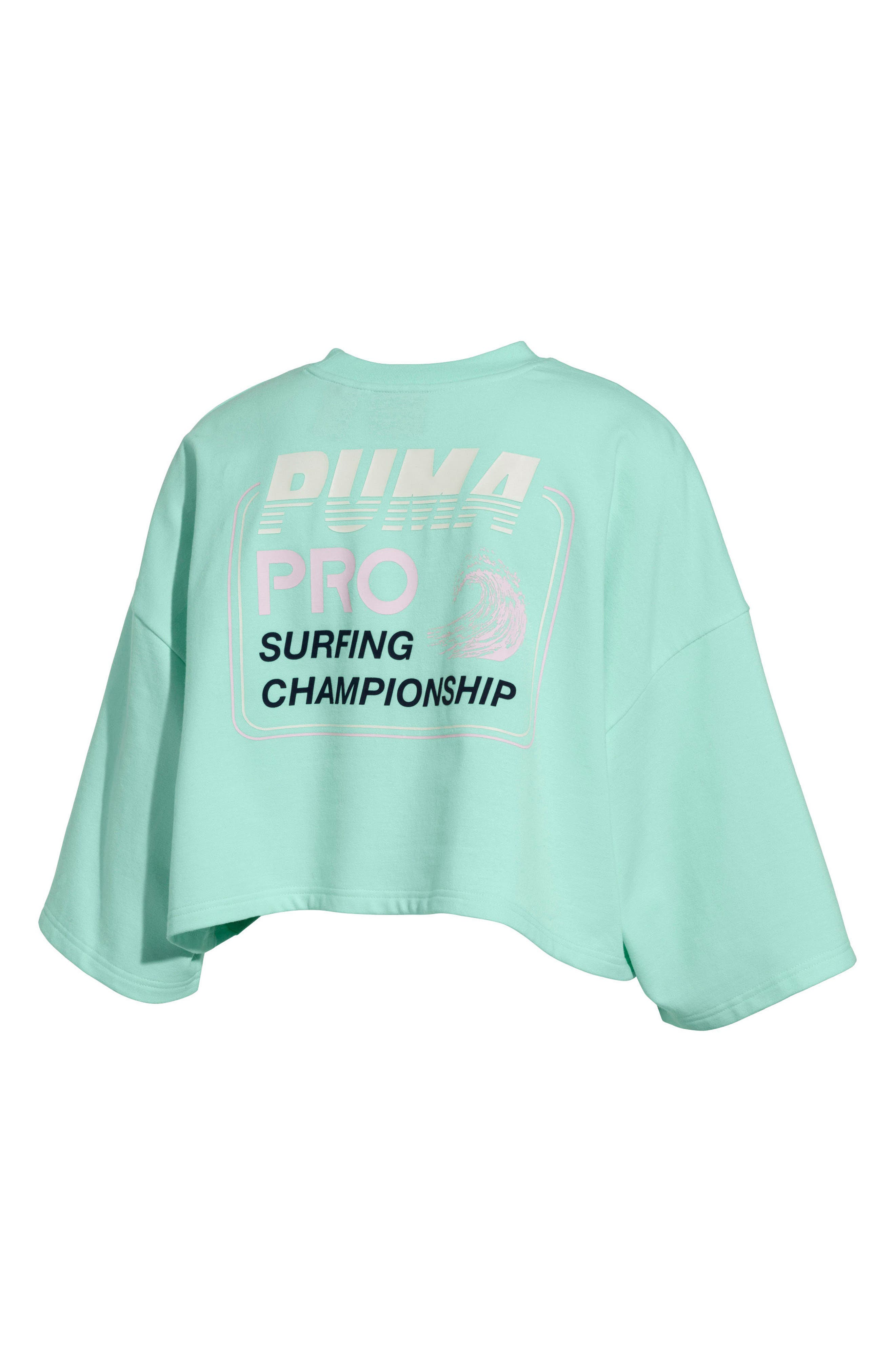 FENTY,                             PUMA by Rihanna Graphic Short Sleeve Crop Sweatshirt,                             Alternate thumbnail 2, color,                             400