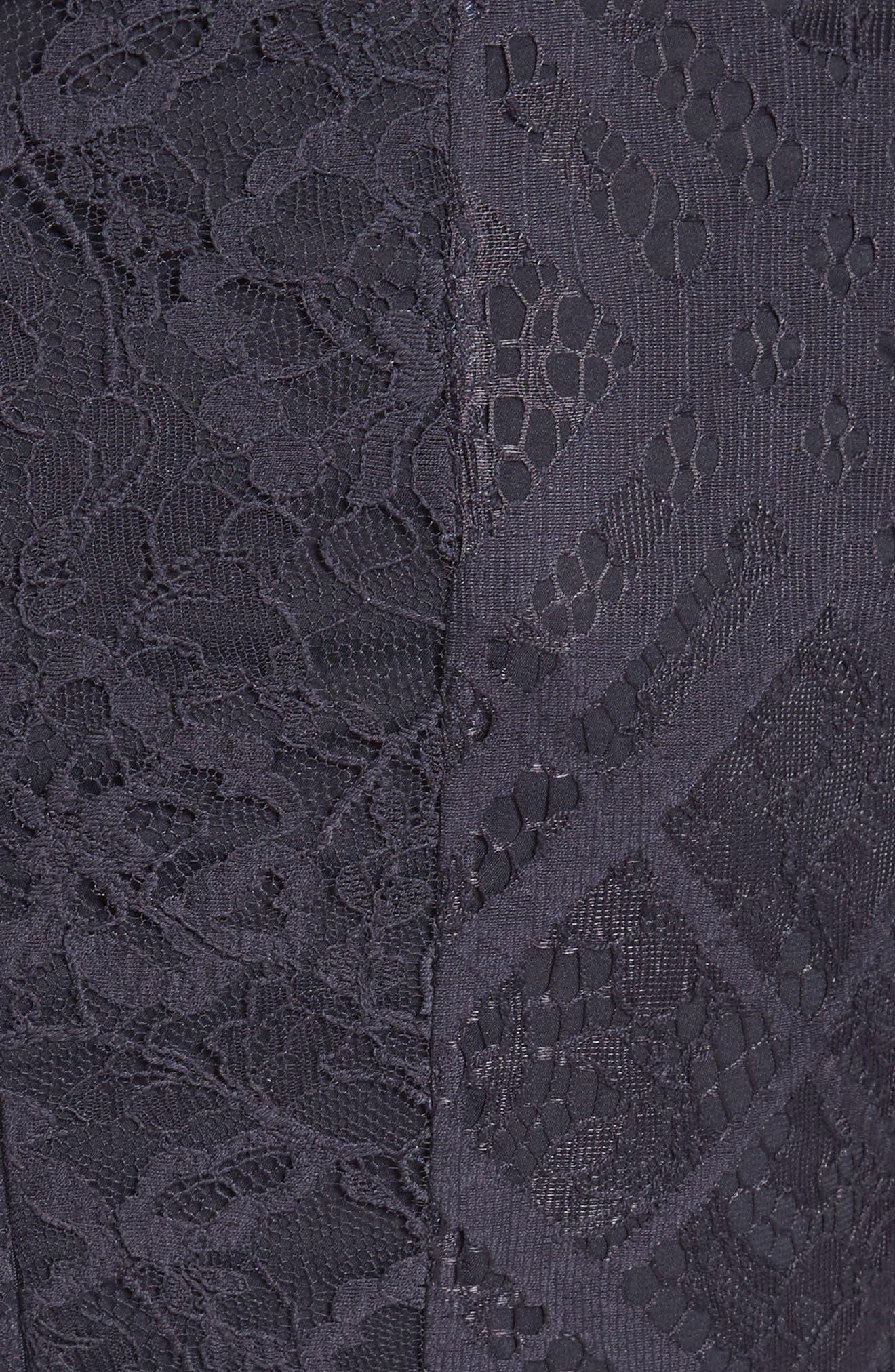 Liliana Lace Fit & Flare Dress,                             Alternate thumbnail 6, color,                             410