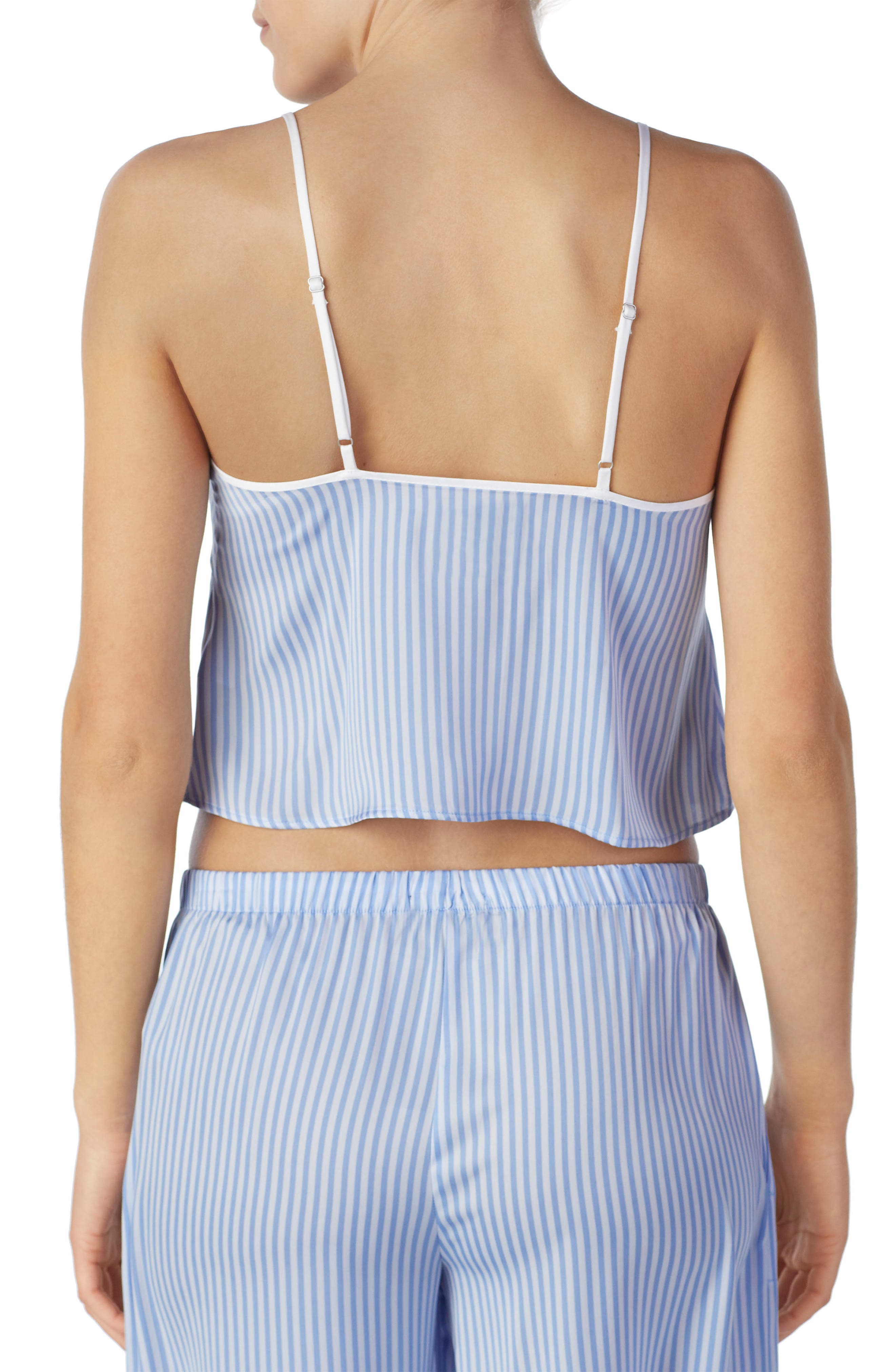 Cropped Satin Camisole,                             Alternate thumbnail 5, color,