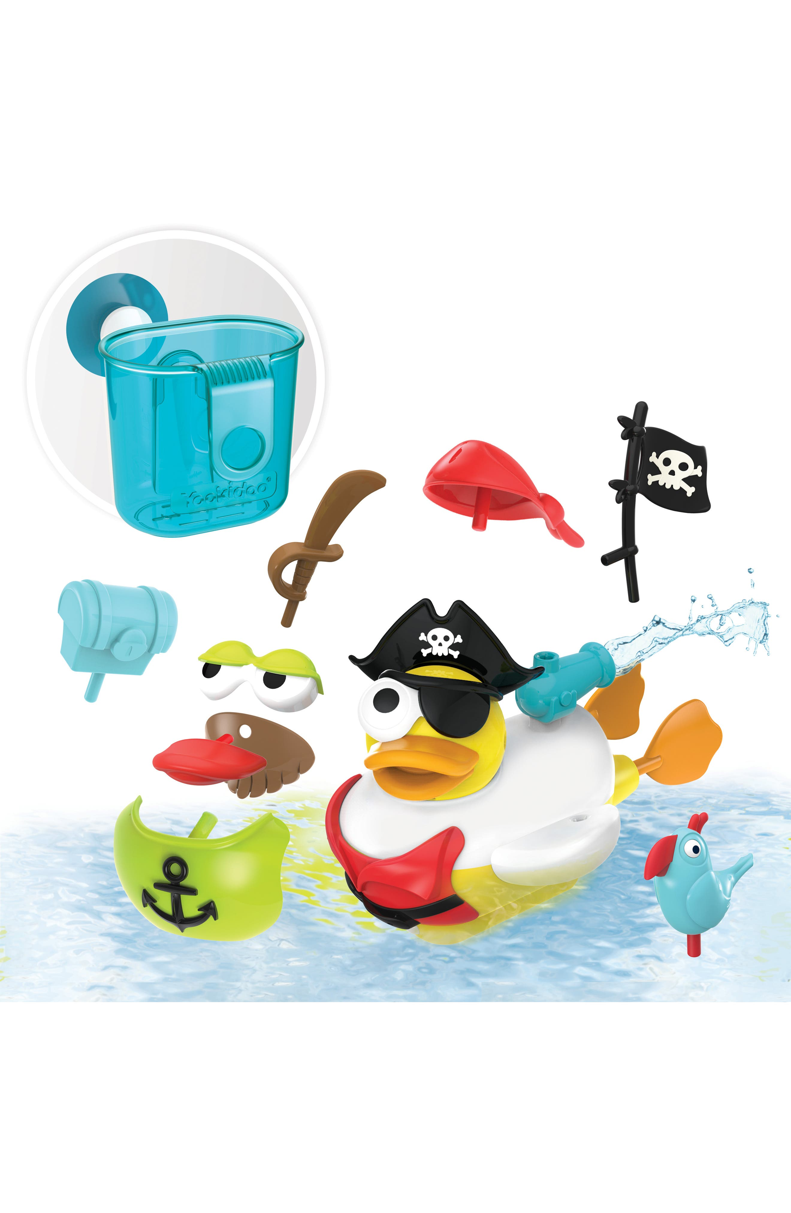 Jet Duck<sup>™</sup> Create a Pirate Bath Toy Kit,                             Alternate thumbnail 6, color,                             YELLOW