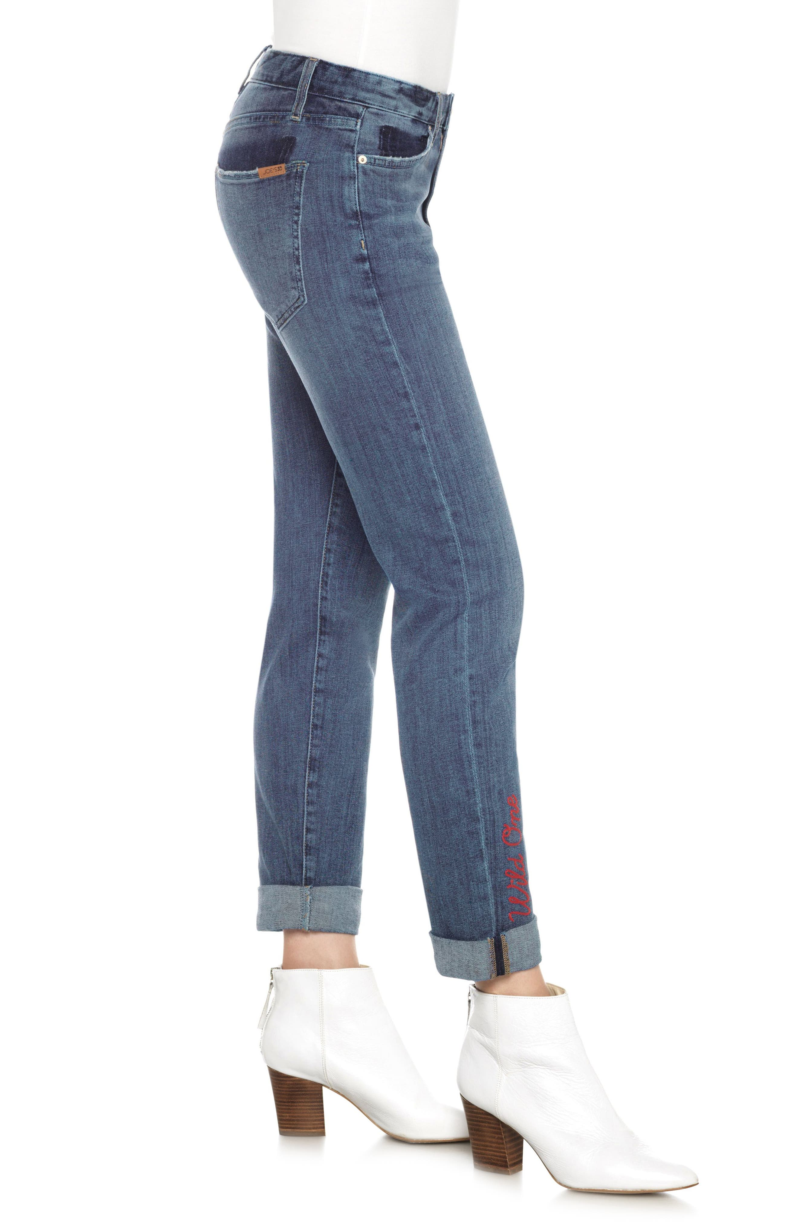 The Smith Wild One Ankle Jeans,                             Alternate thumbnail 3, color,