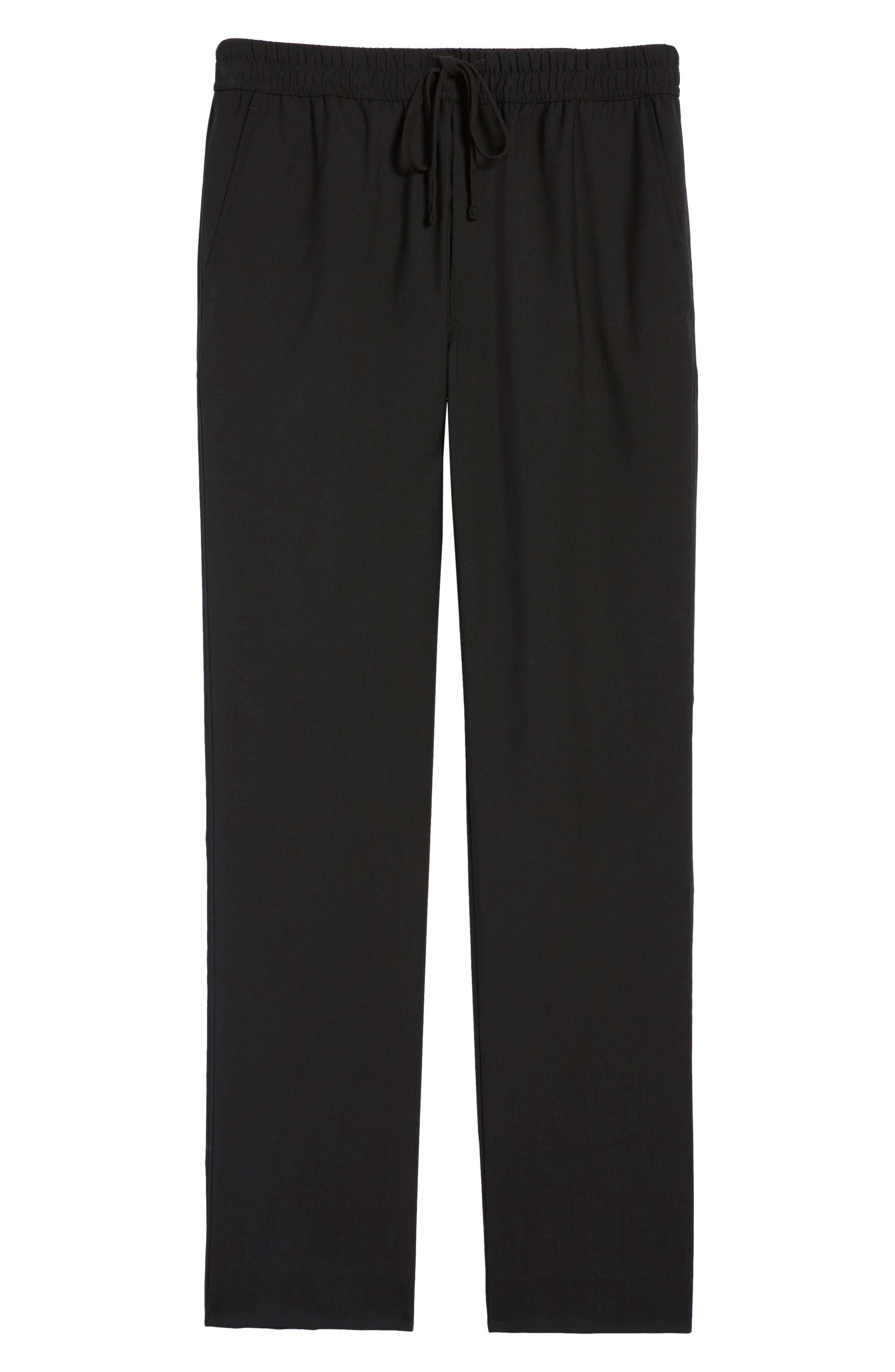 Slim Fit Wool Track Pants,                             Alternate thumbnail 6, color,                             001