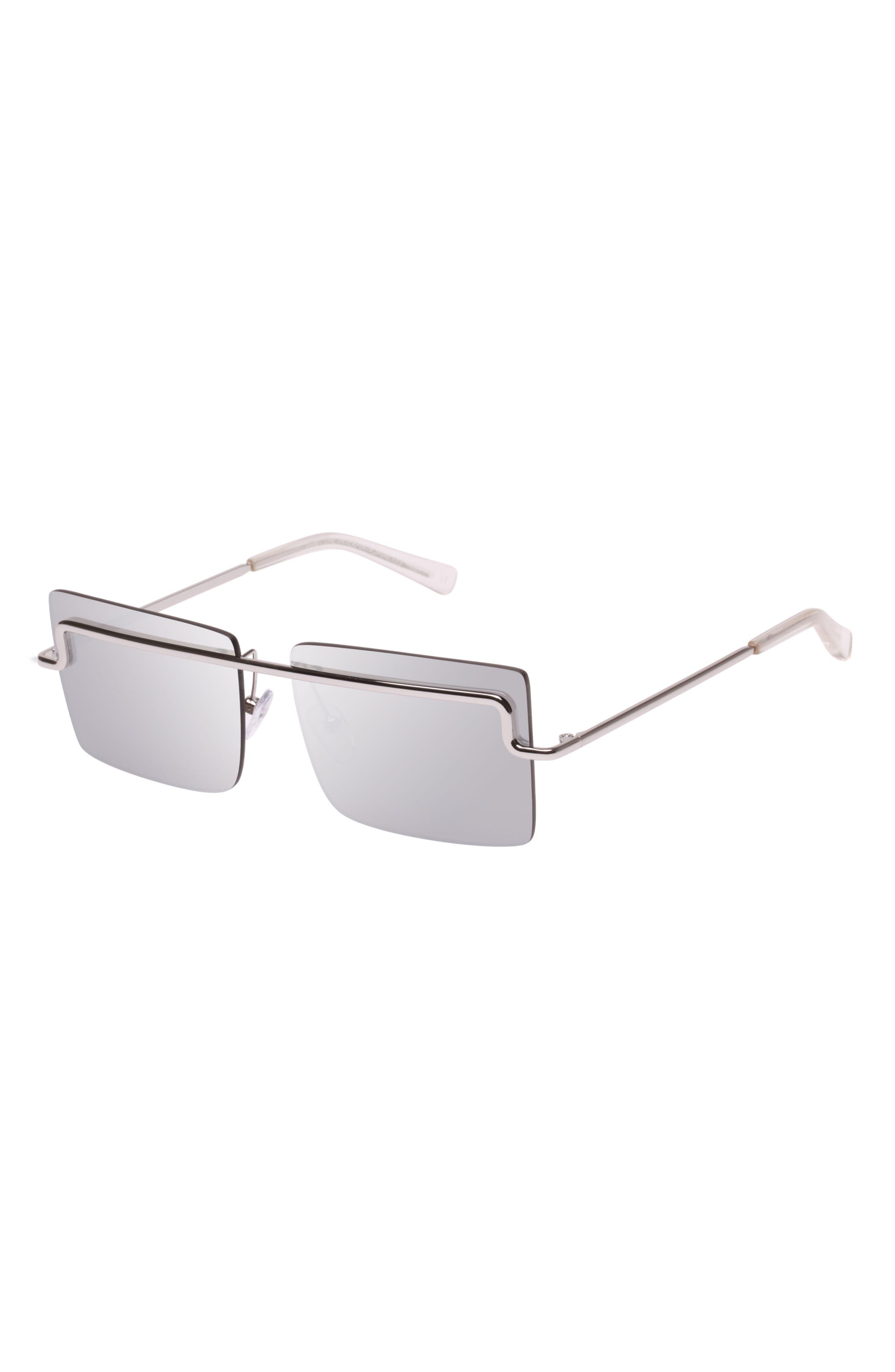 The International 58mm Sunglasses,                             Alternate thumbnail 2, color,                             SILVER/ SILVER MONO