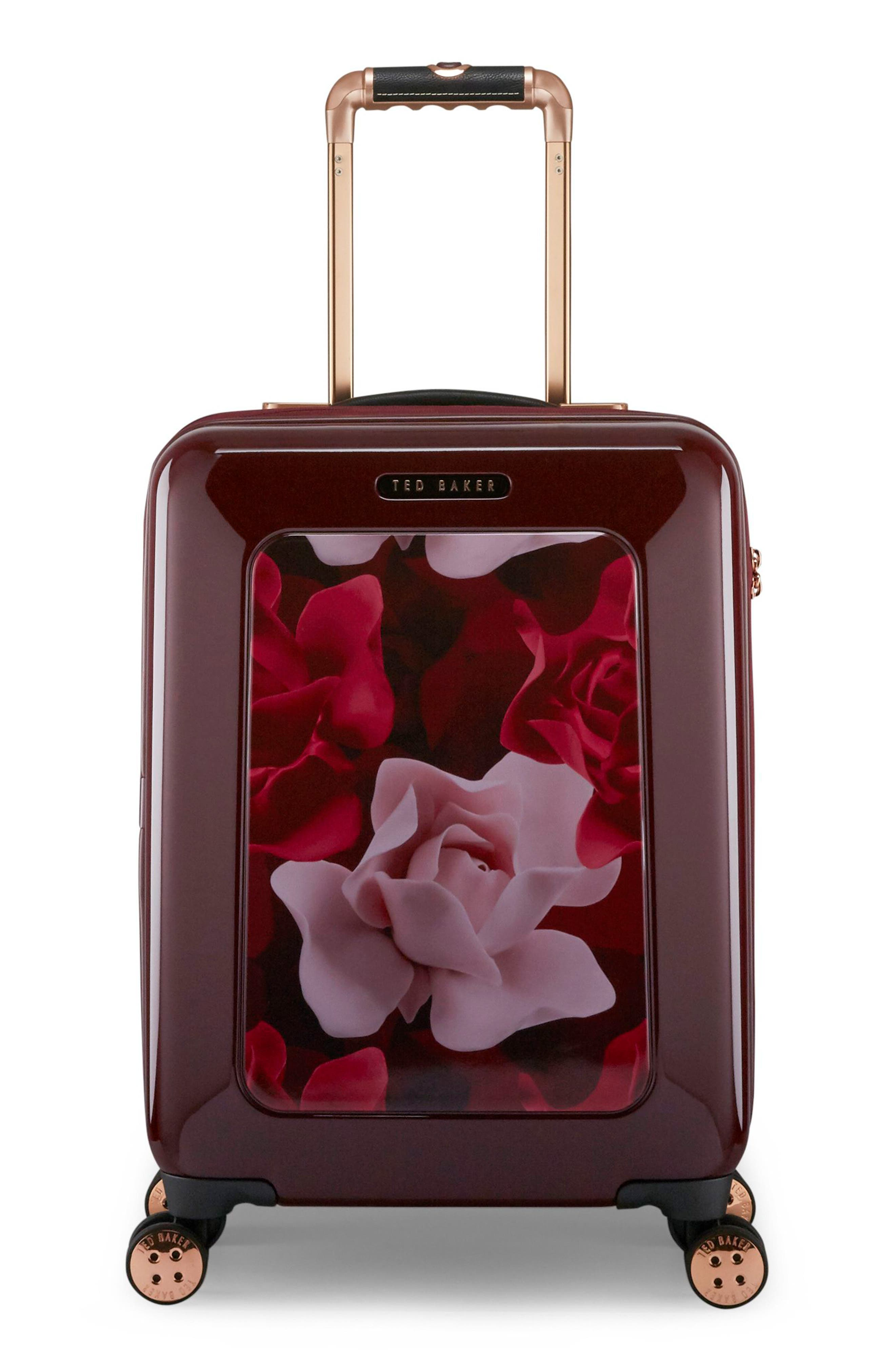 Small Porcelain Rose 21-Inch Spinner Carry-On,                             Main thumbnail 1, color,                             930
