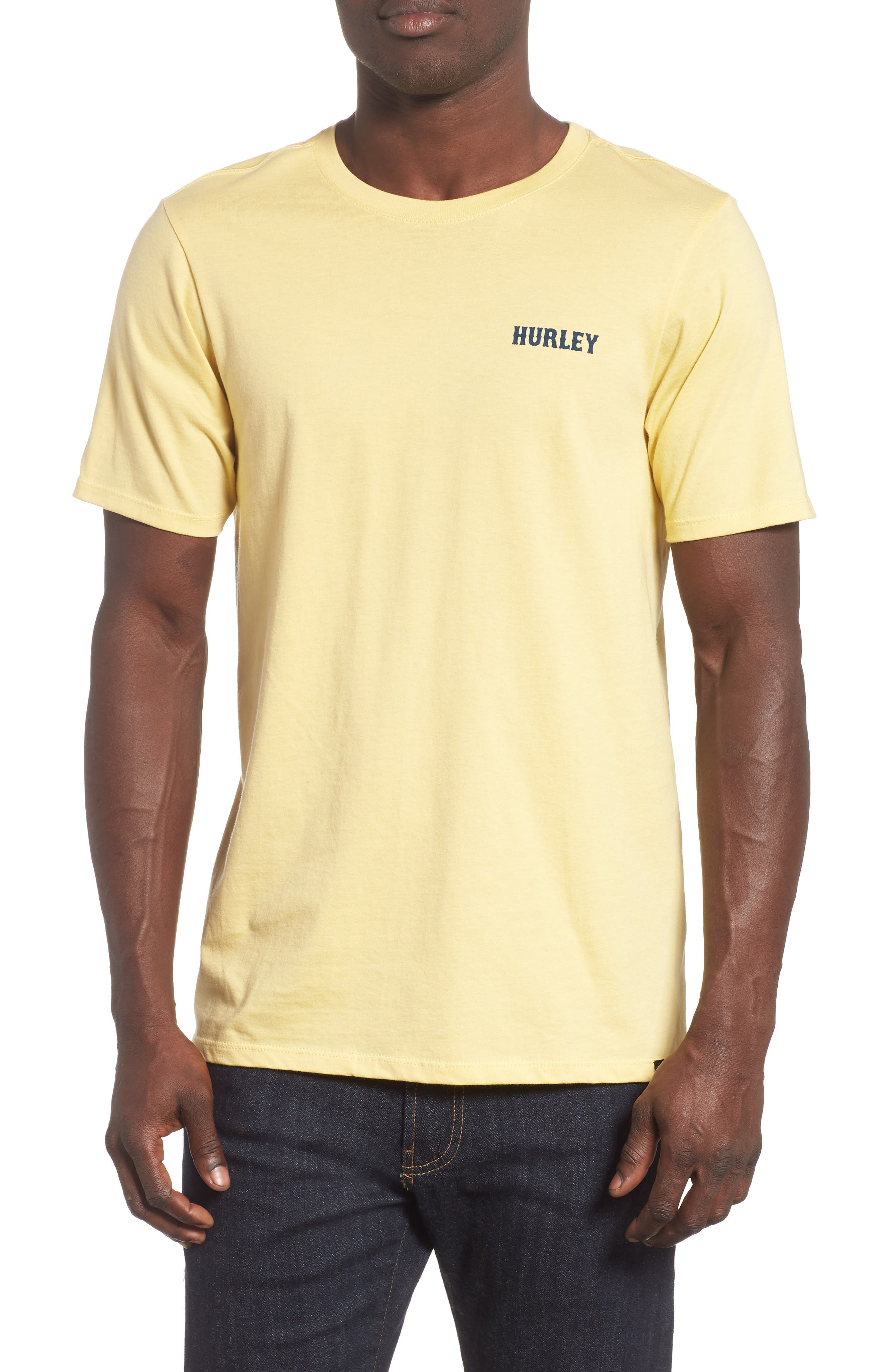 HURLEY Tree Hugger Graphic T-Shirt in Lemon Wash
