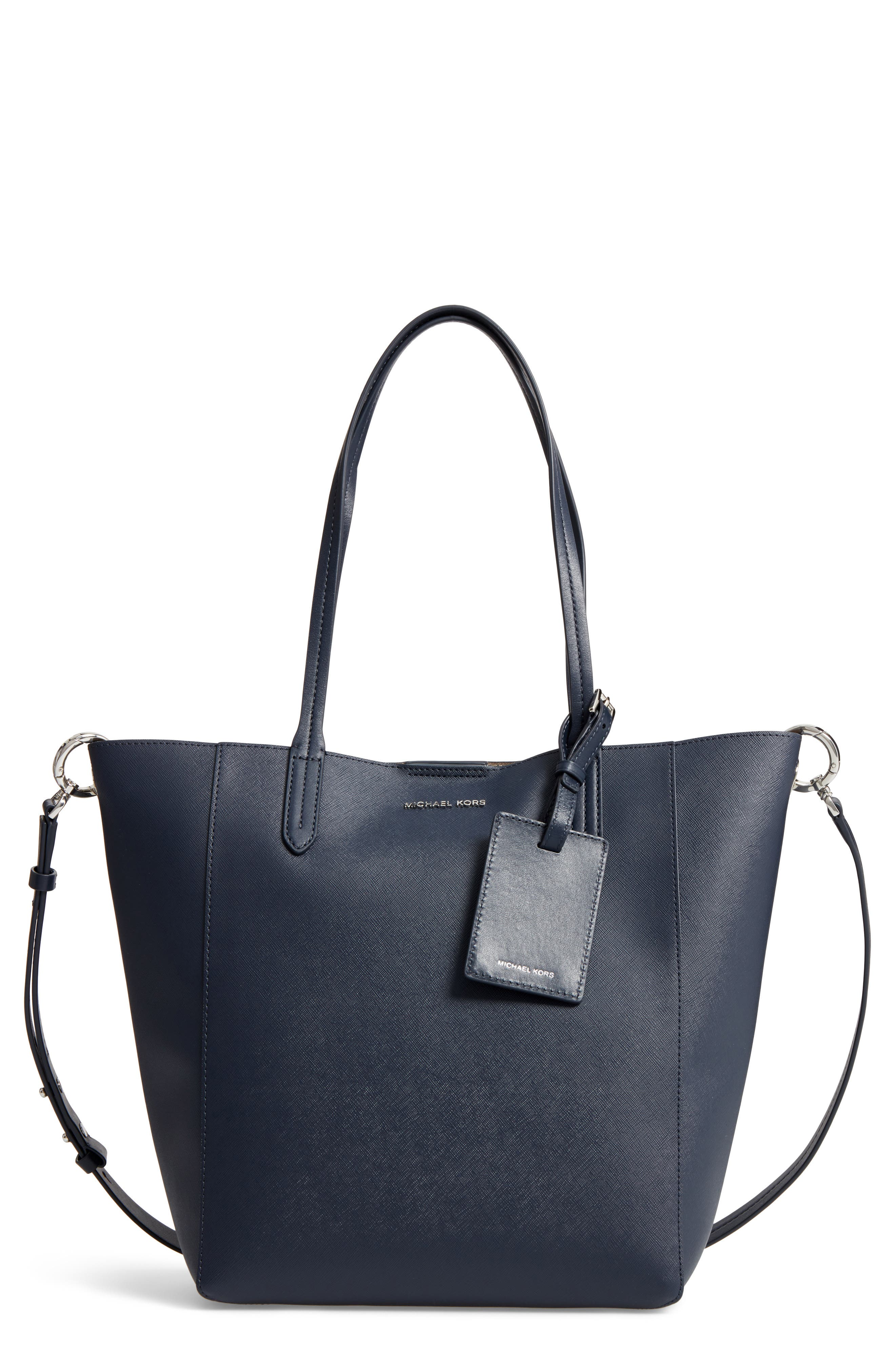 Penny Large Saffiano Convertible Leather Tote, Main, color, 414