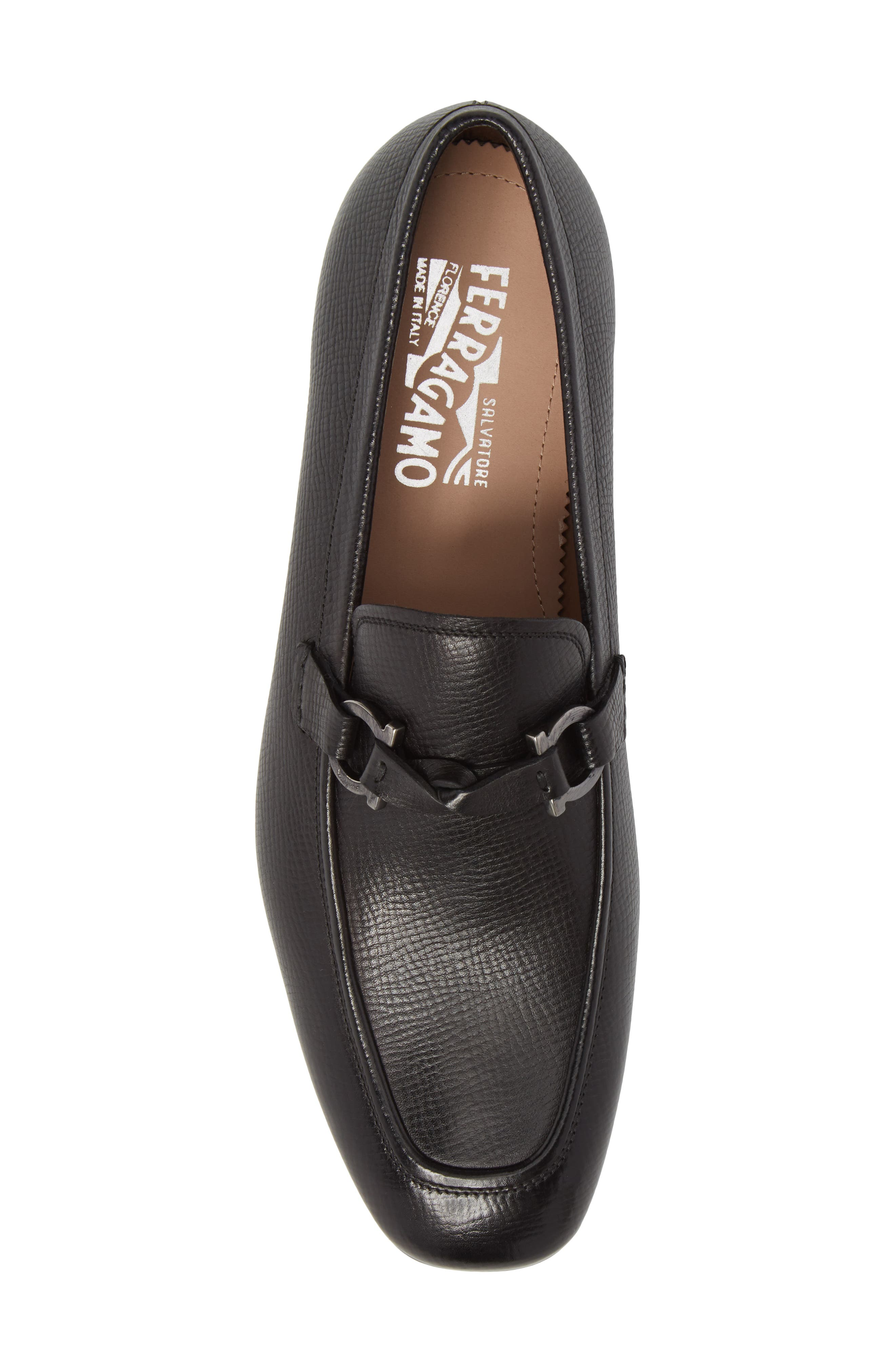Barry Looped Bit Loafer,                             Alternate thumbnail 5, color,                             NERO LEATHER
