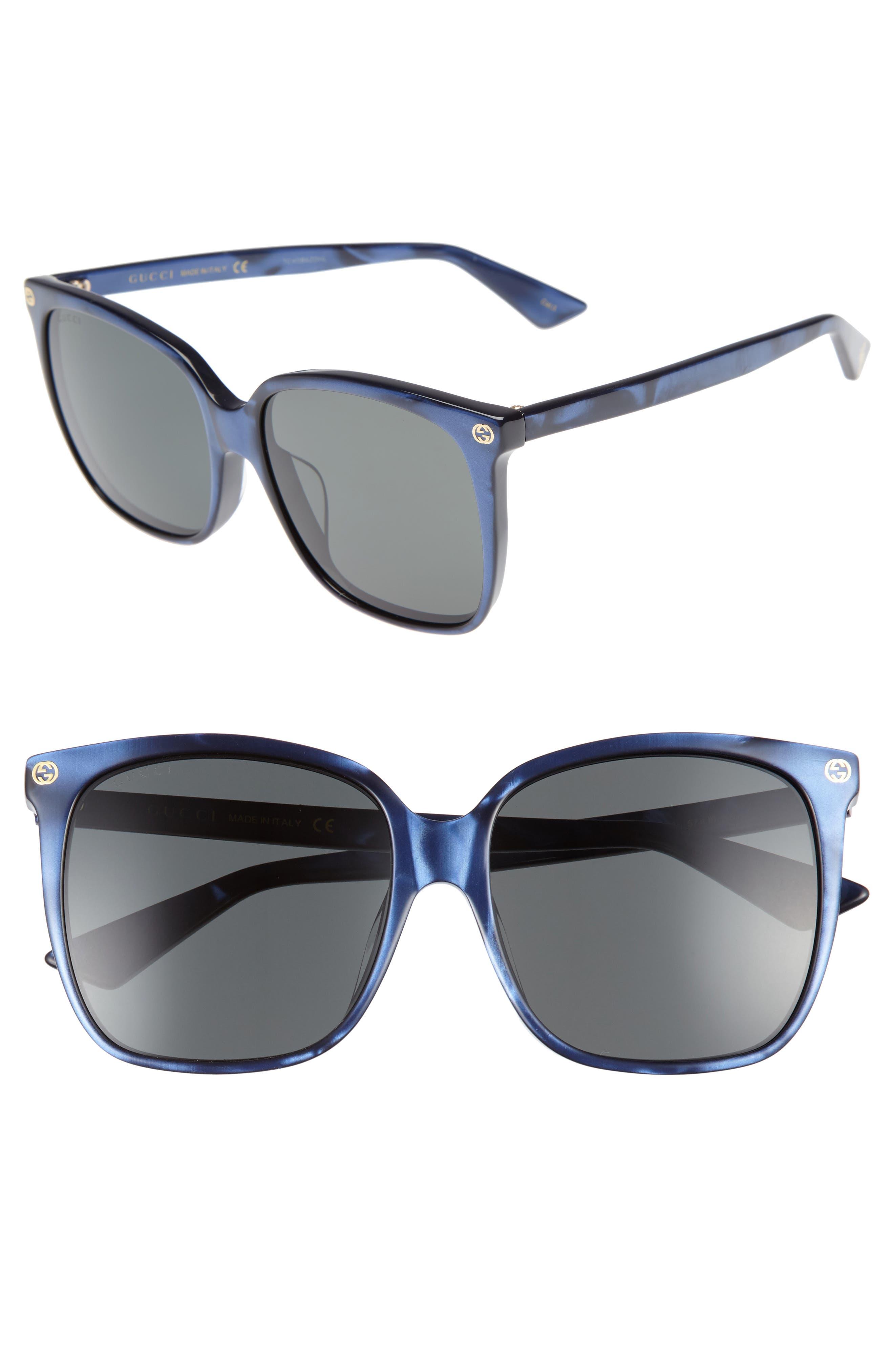 57mm Gradient Sunglasses,                         Main,                         color, 400