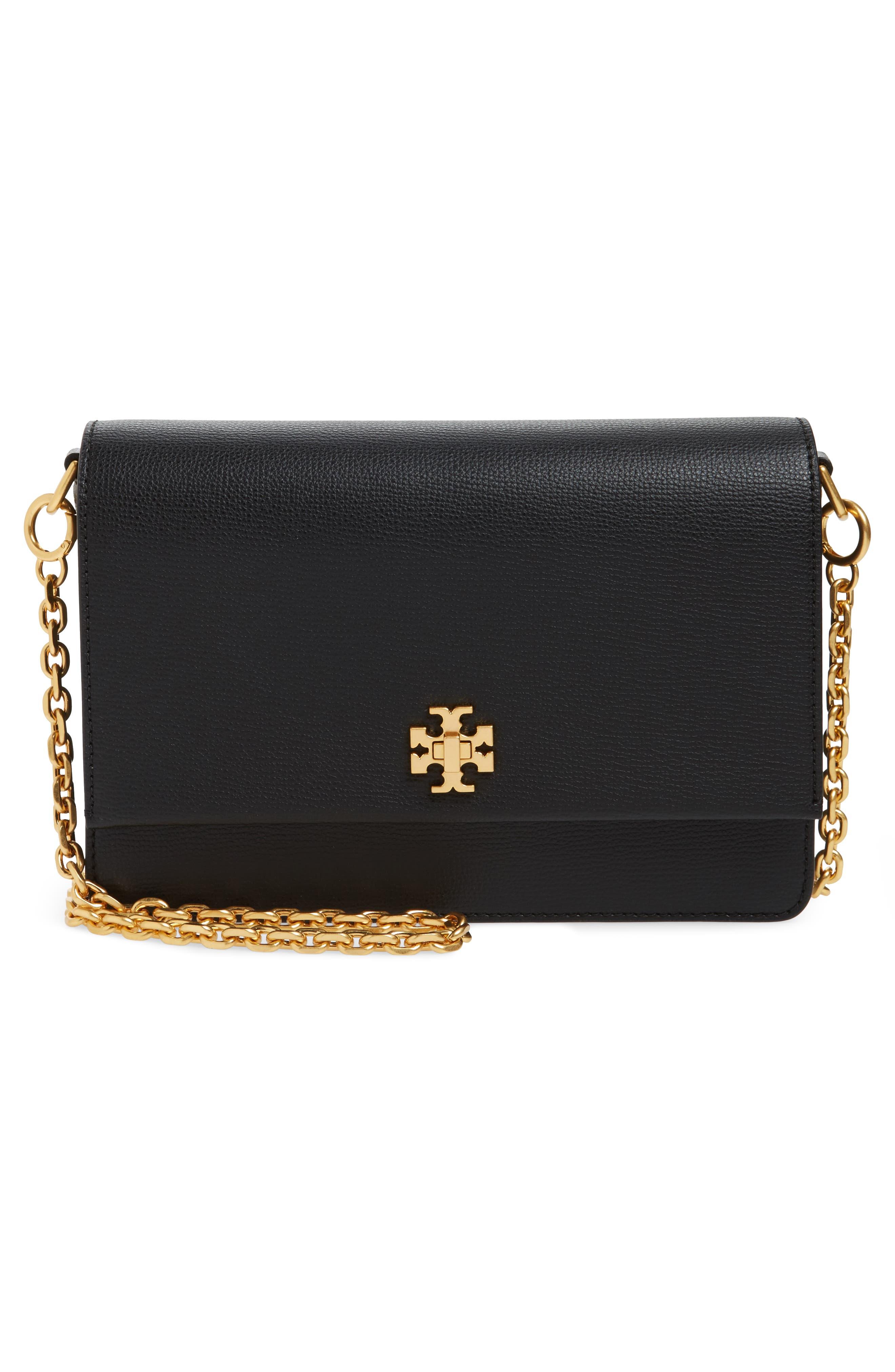 Kira Leather Shoulder Bag,                             Alternate thumbnail 3, color,                             BLACK