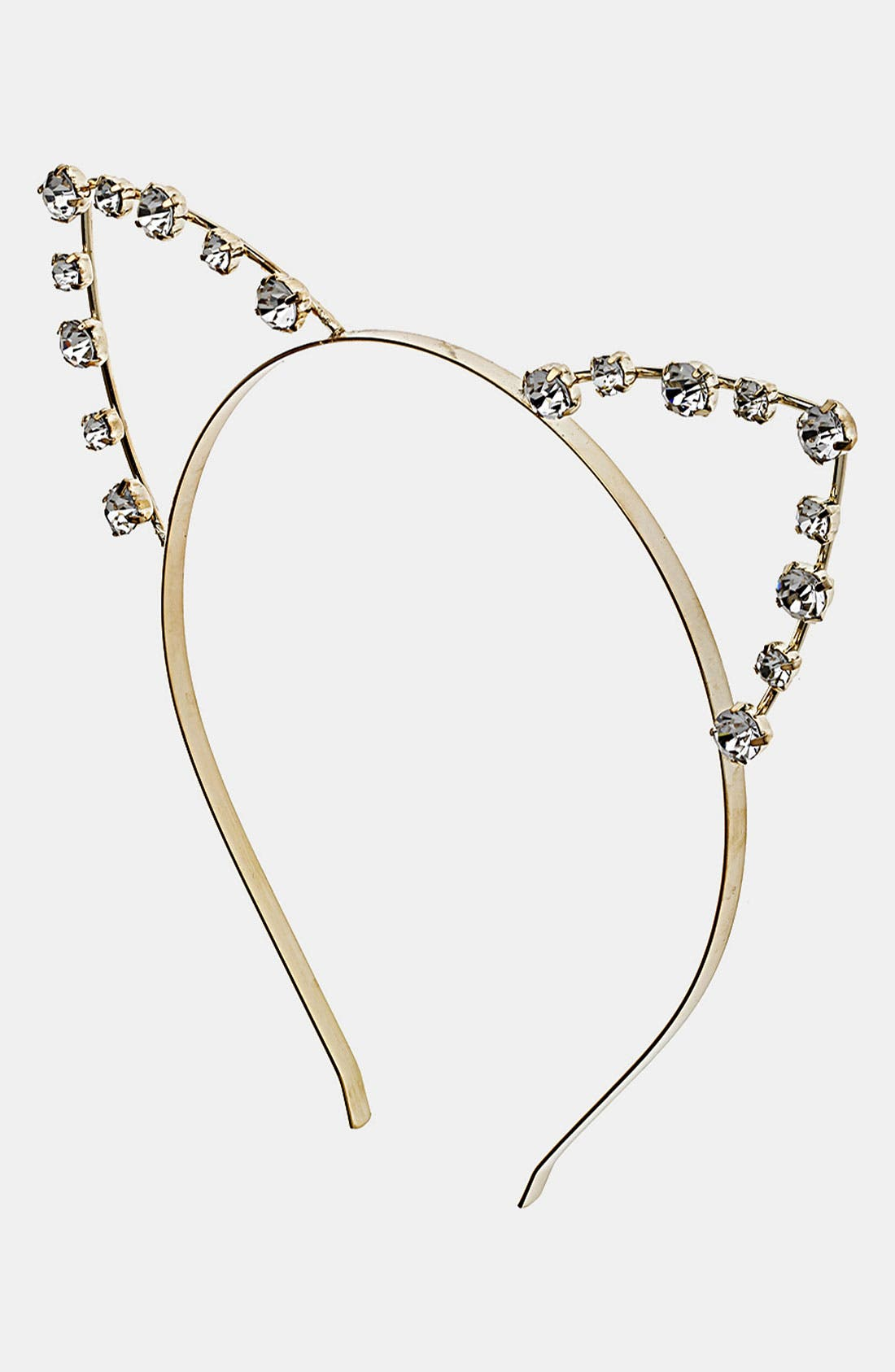 Cat Ears Metal Headband, Main, color, 040