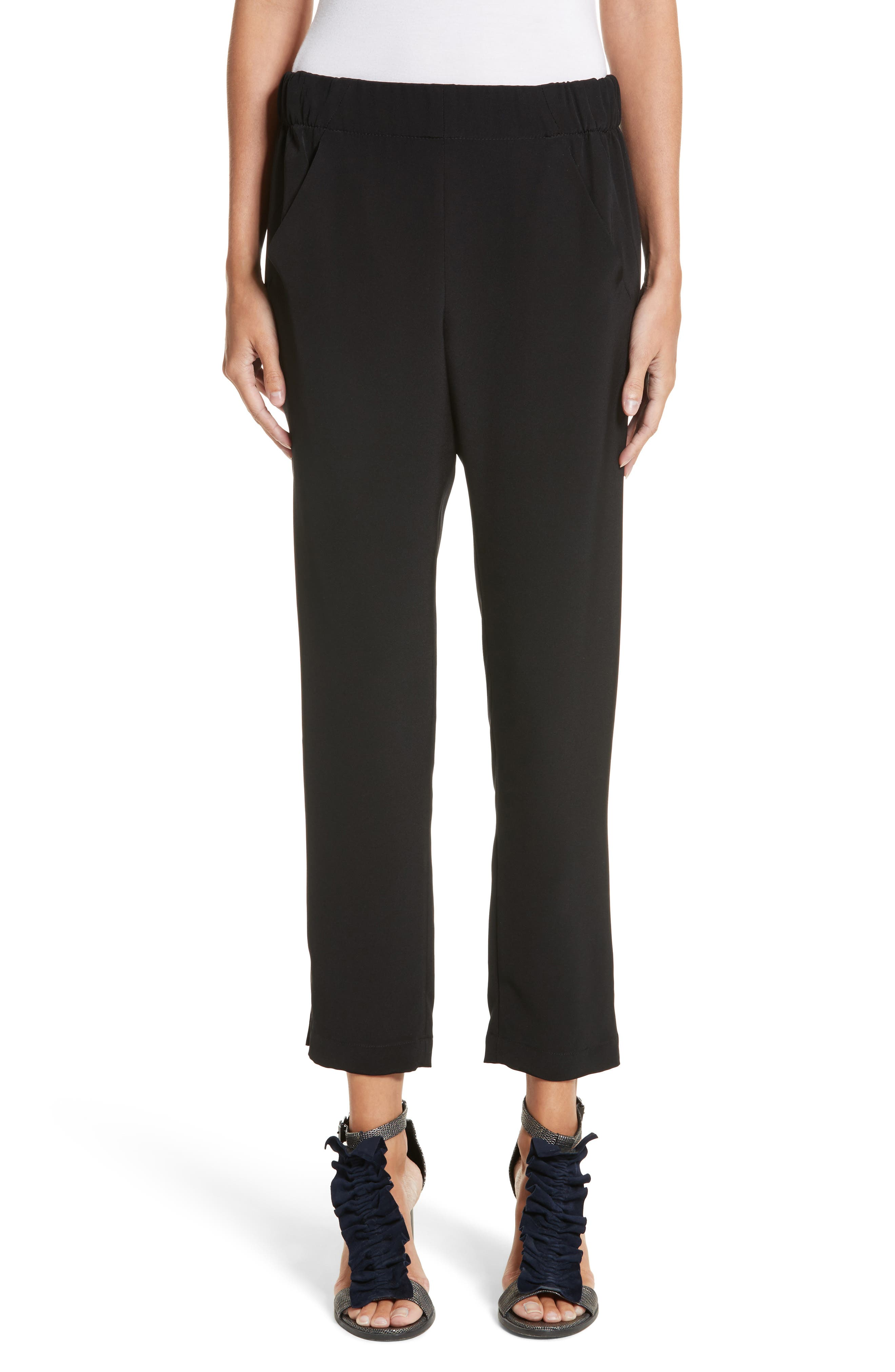 Elli Slim Leg Pants,                             Main thumbnail 1, color,                             BLACK