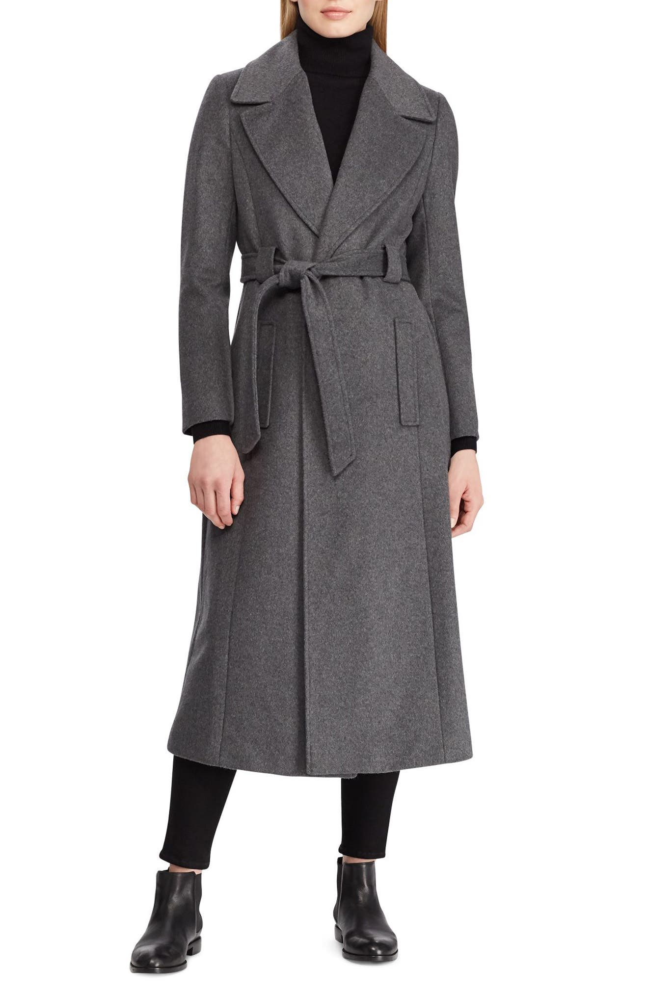 Wrap Overcoat,                         Main,                         color, CHARCOAL