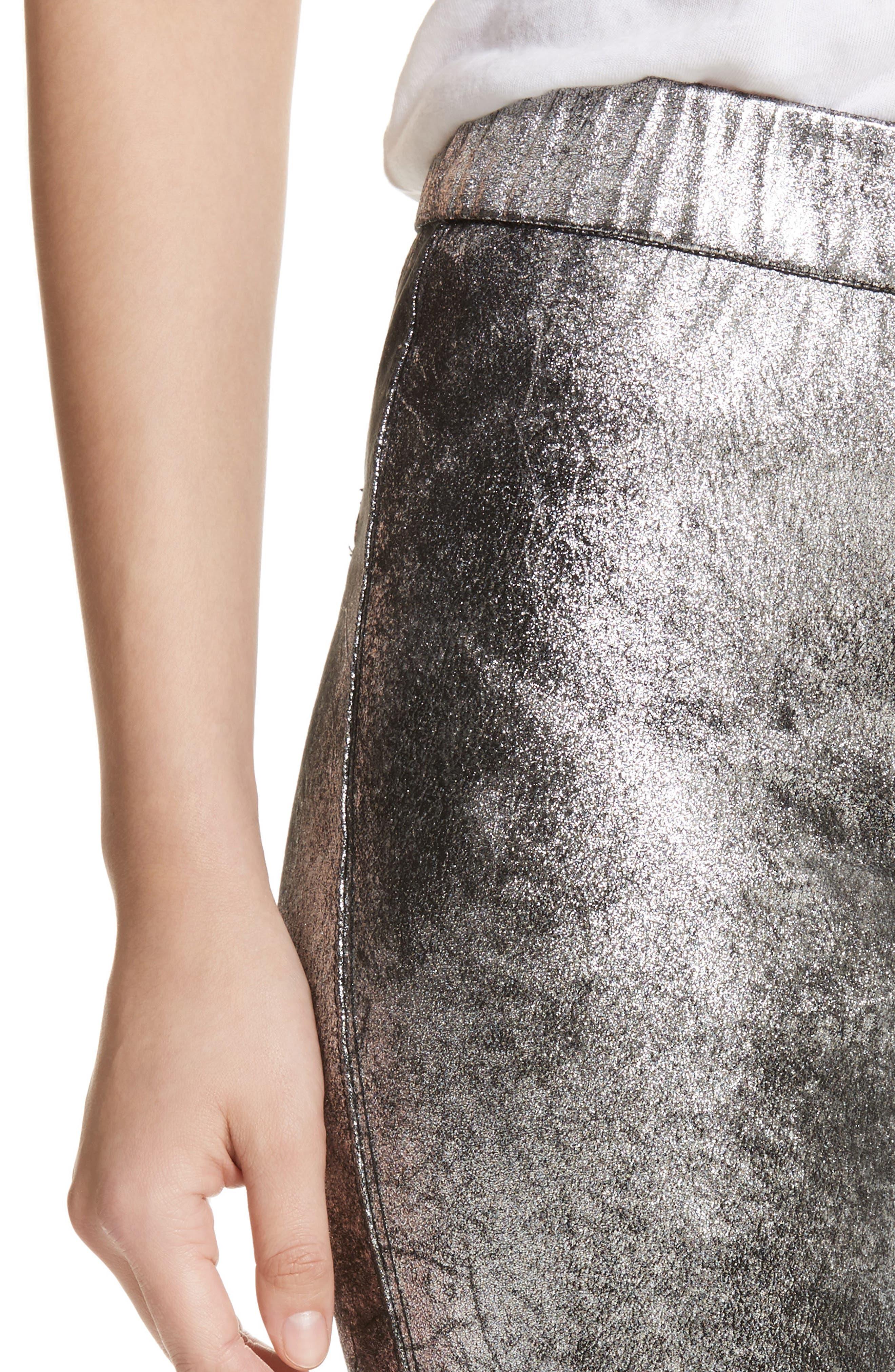 Faux Leather Leggings,                             Alternate thumbnail 4, color,                             040