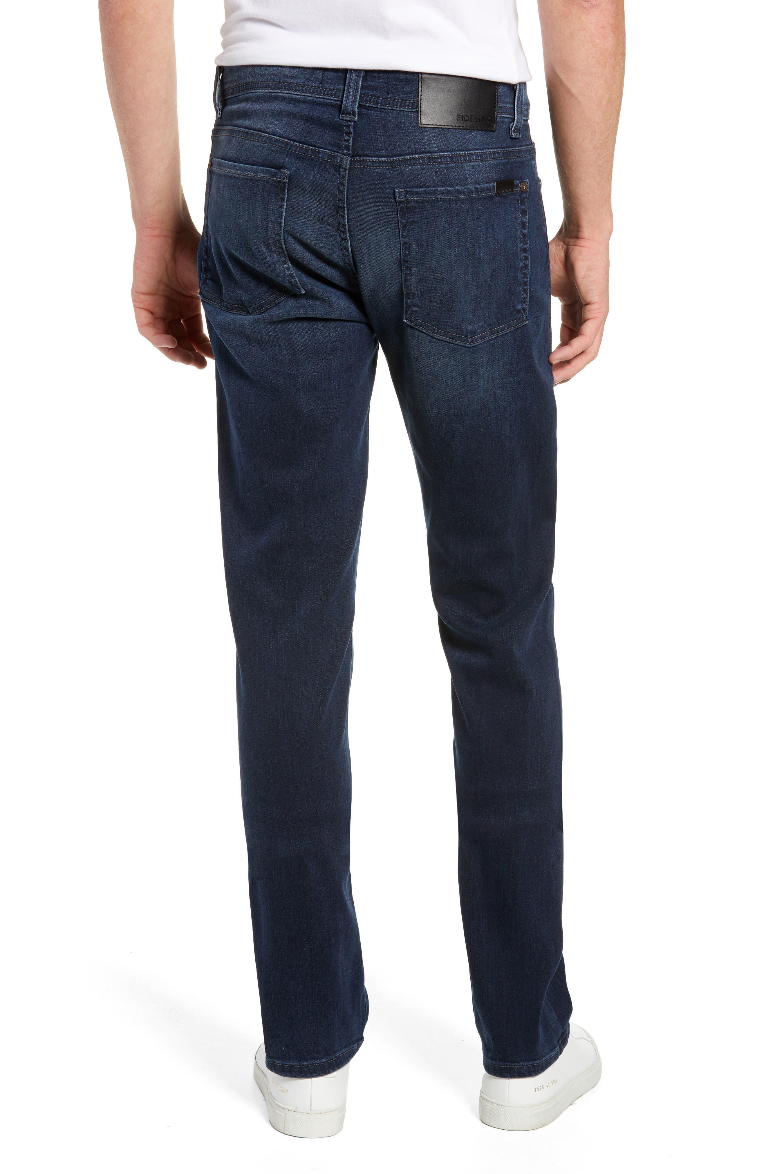Fidelity Slim Straight Leg Jeans,                             Alternate thumbnail 2, color,                             BEL AIR BLUE