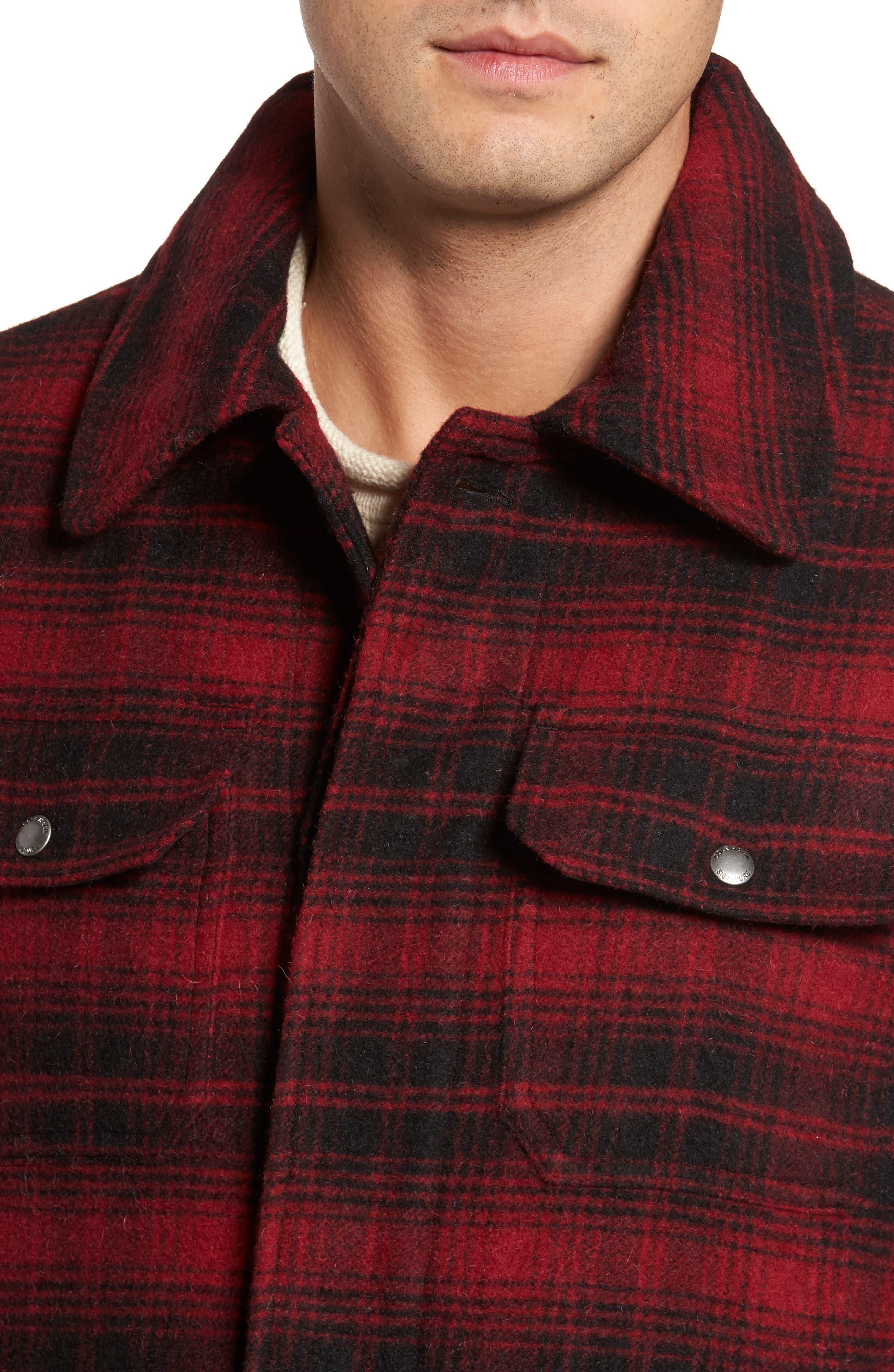 Hunter Jack Wool Blend Shirt Jacket,                             Alternate thumbnail 4, color,