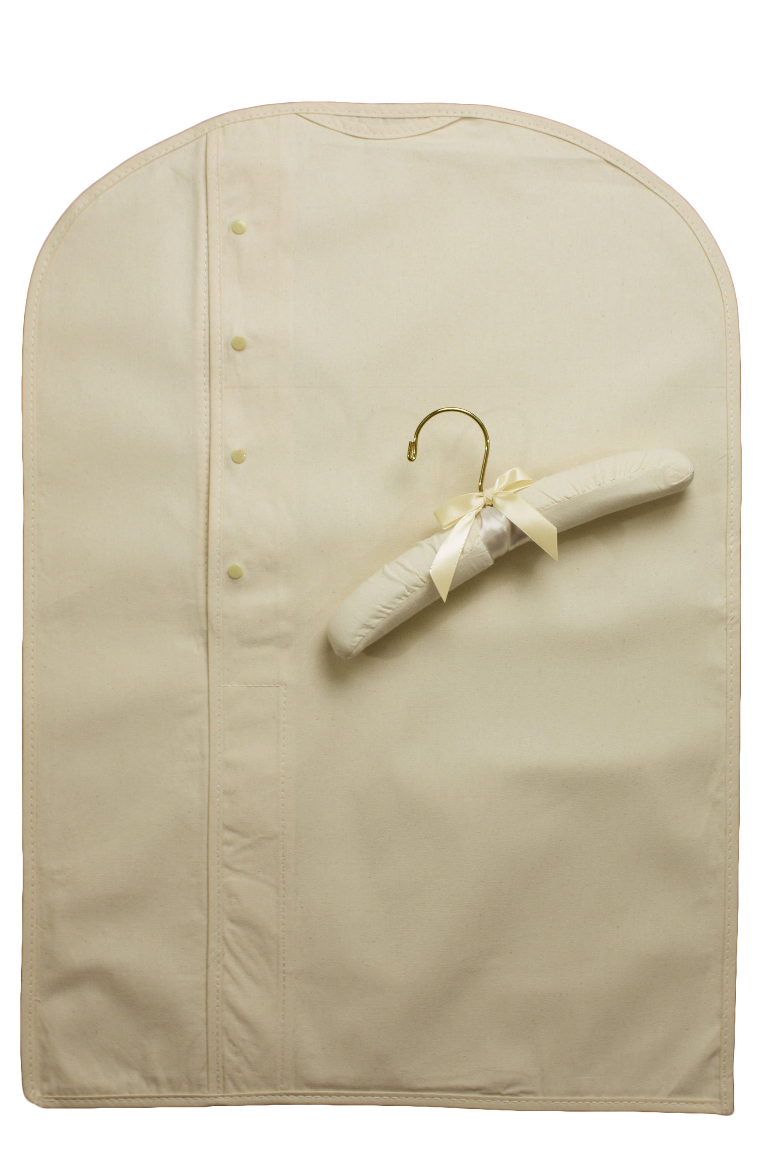 Heirloom Preservation Garment Bag,                             Main thumbnail 1, color,                             IVORY