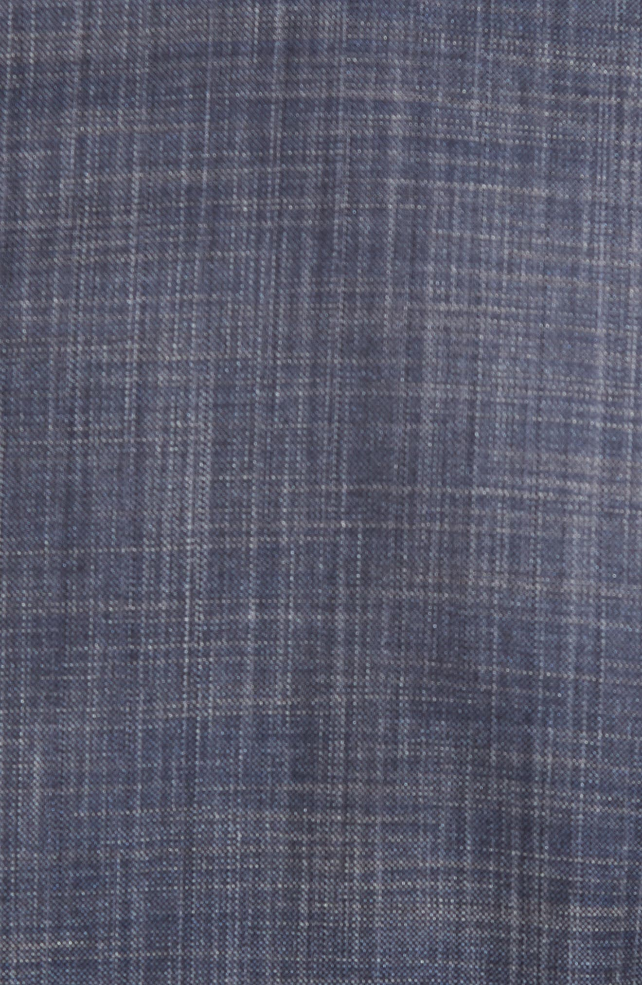 Huge/Genius Trim Fit Wool & Silk Suit,                             Alternate thumbnail 7, color,                             BLUE
