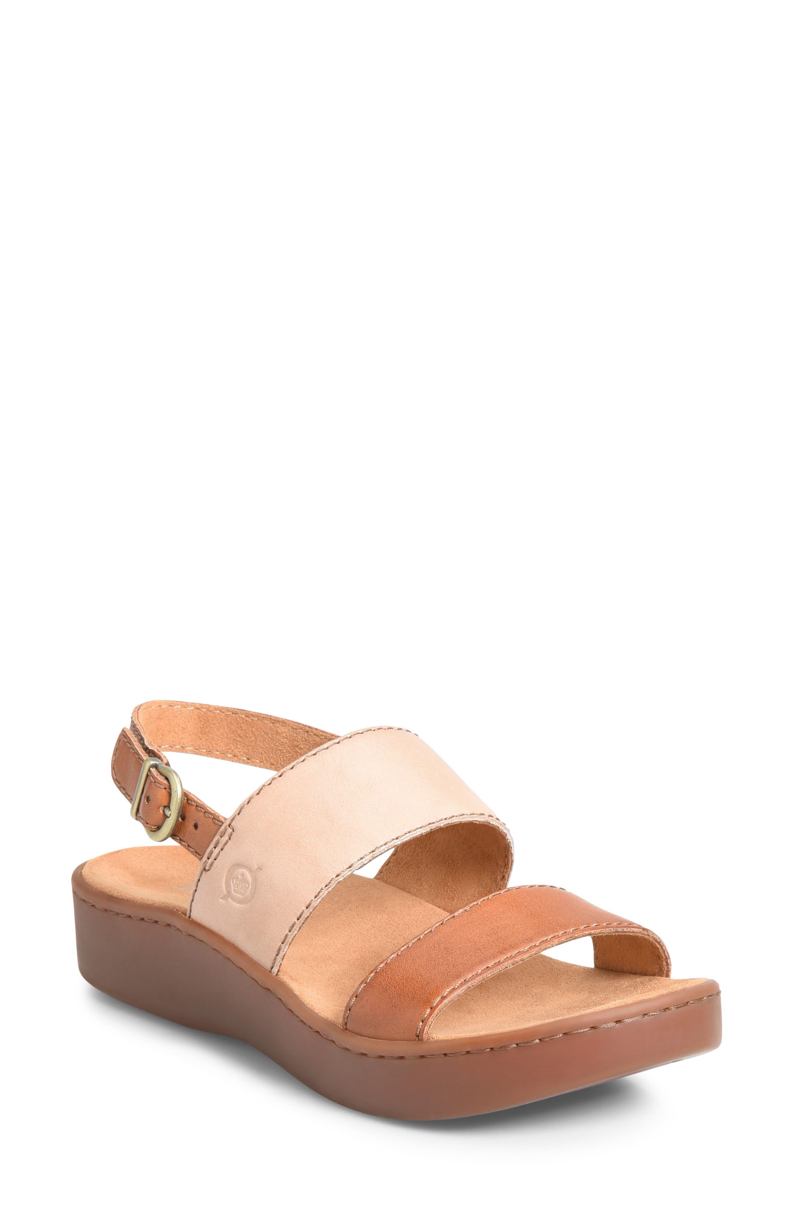 B?rn Oconee Platform Sandal, Brown