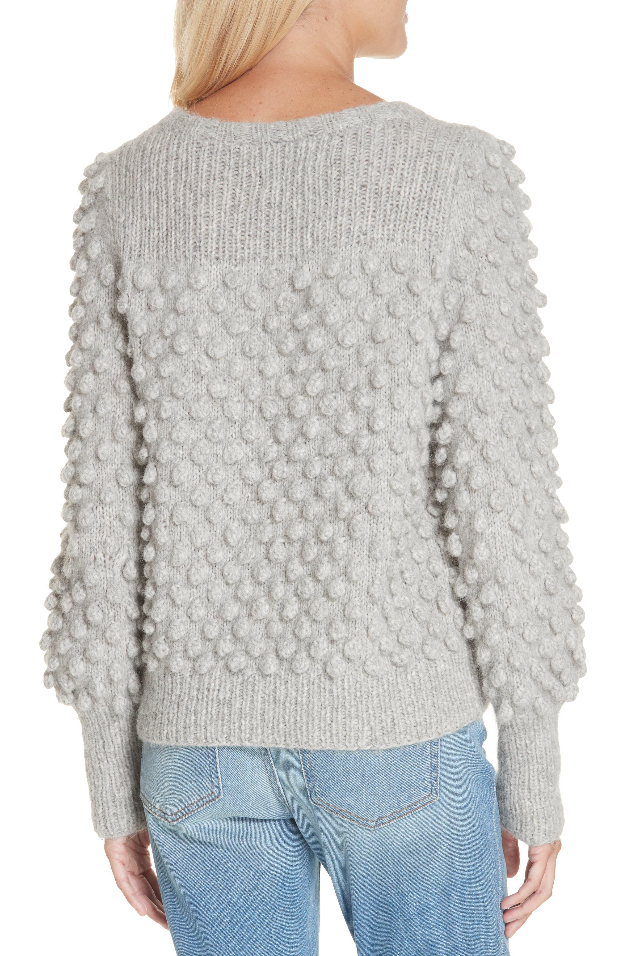 Camilla Baby Alpaca Blend Sweater,                             Alternate thumbnail 2, color,                             PALE MELANGE GREY