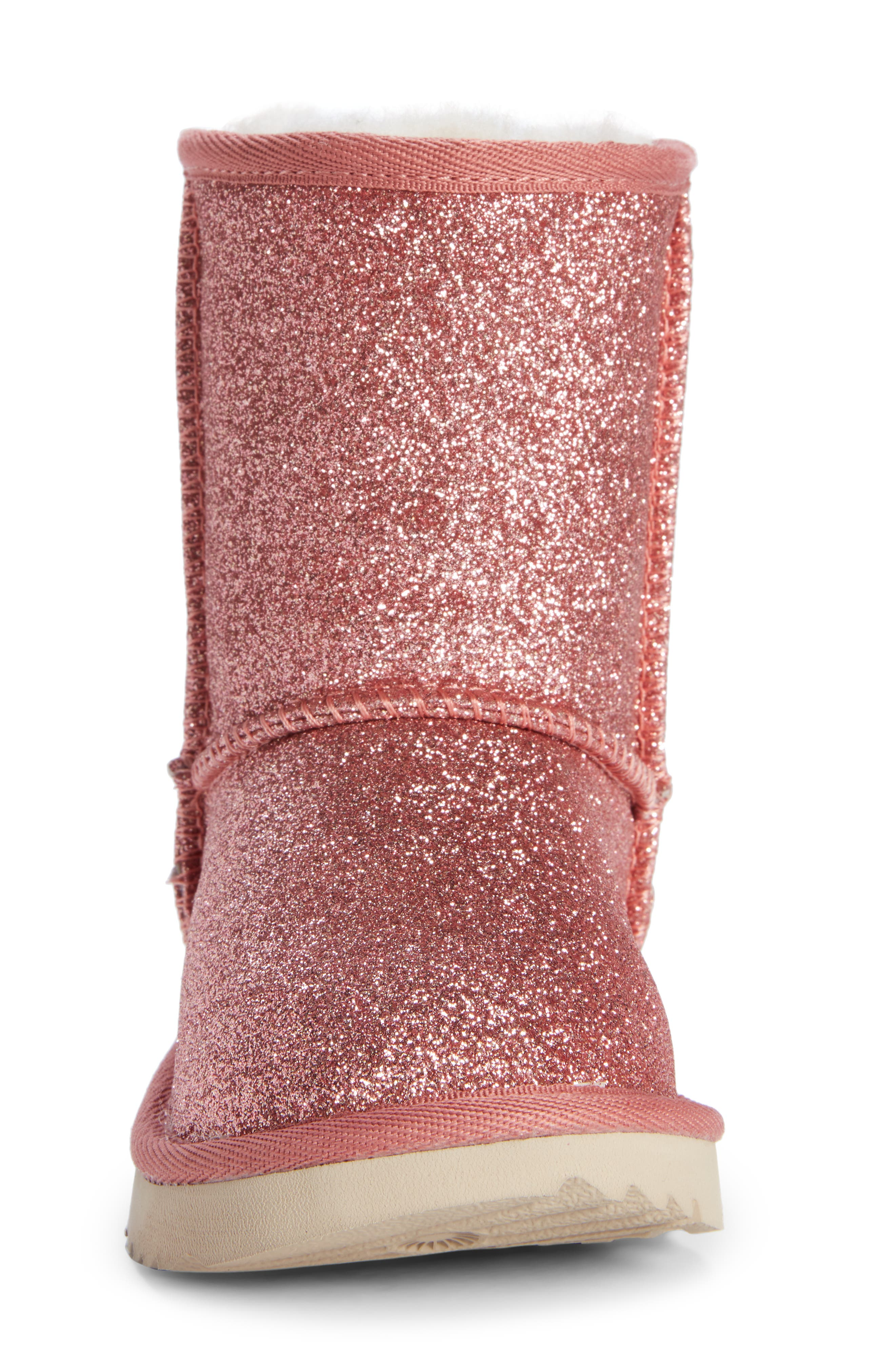 Classic Short II Glitter Bootie,                             Alternate thumbnail 4, color,                             PINK