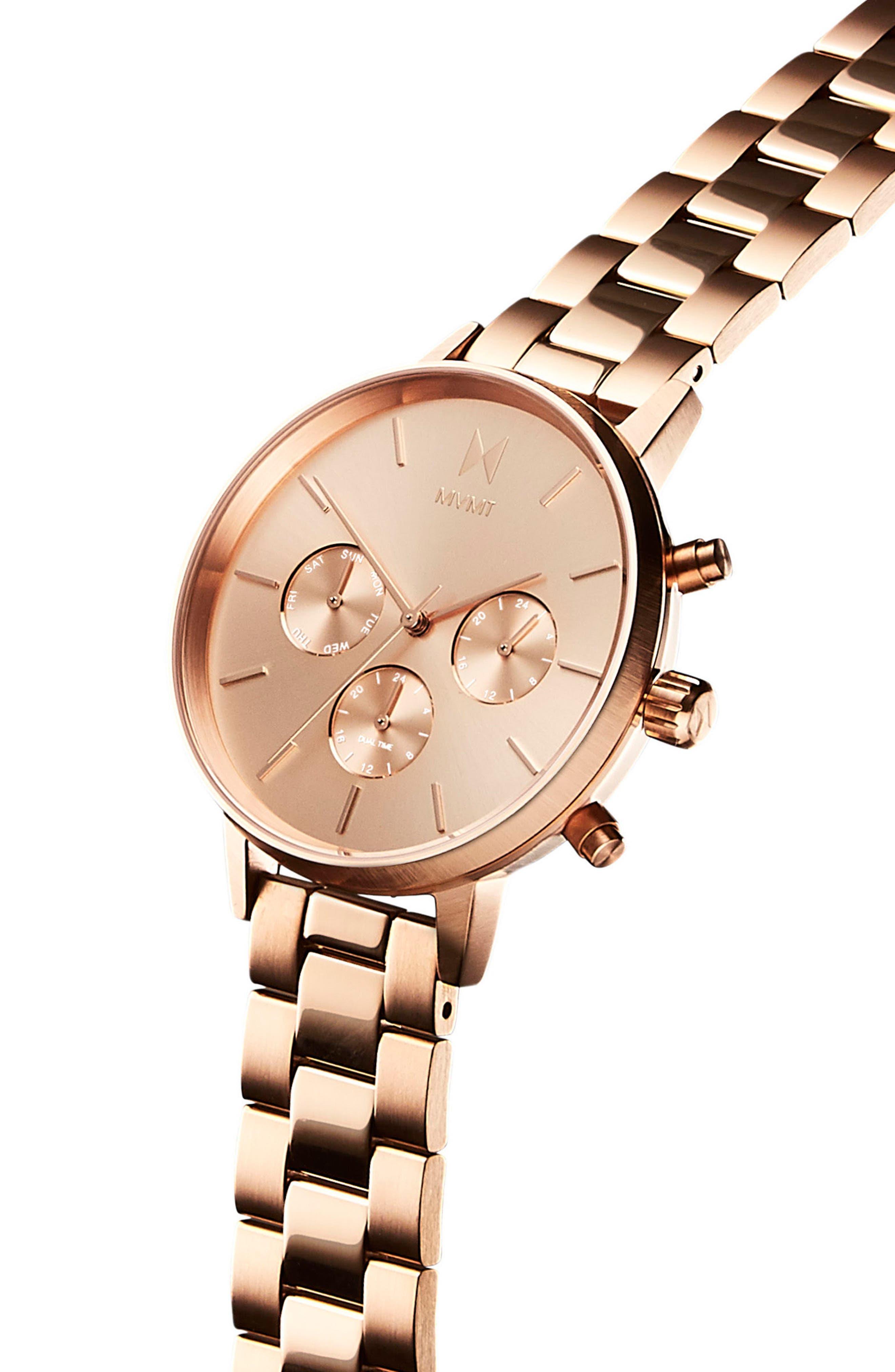 Nova Chronograph Bracelet Watch, 38mm,                             Alternate thumbnail 3, color,                             ROSE GOLD