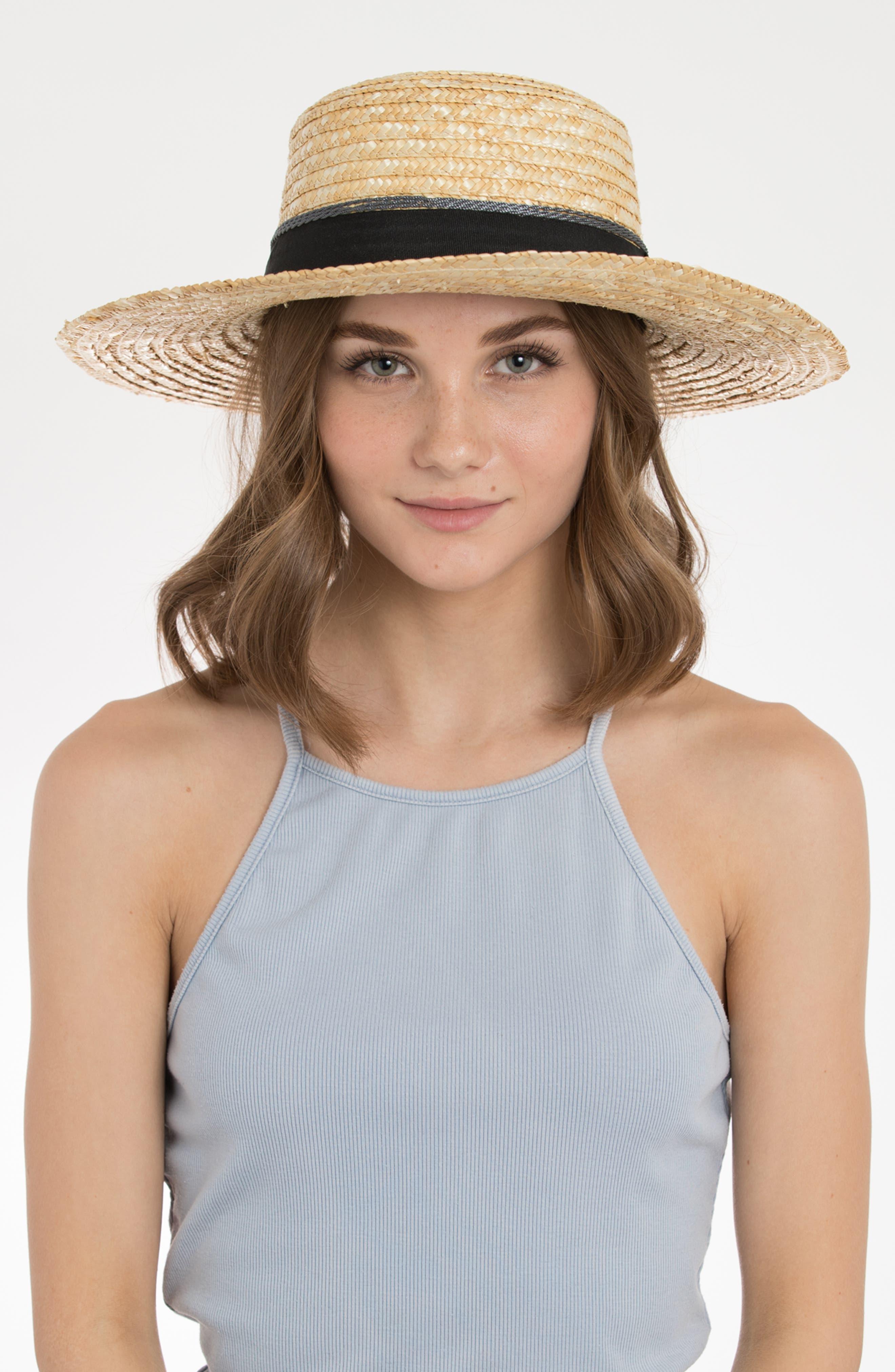 Teresa Wheat Straw Resort Hat,                             Alternate thumbnail 2, color,                             NATURAL