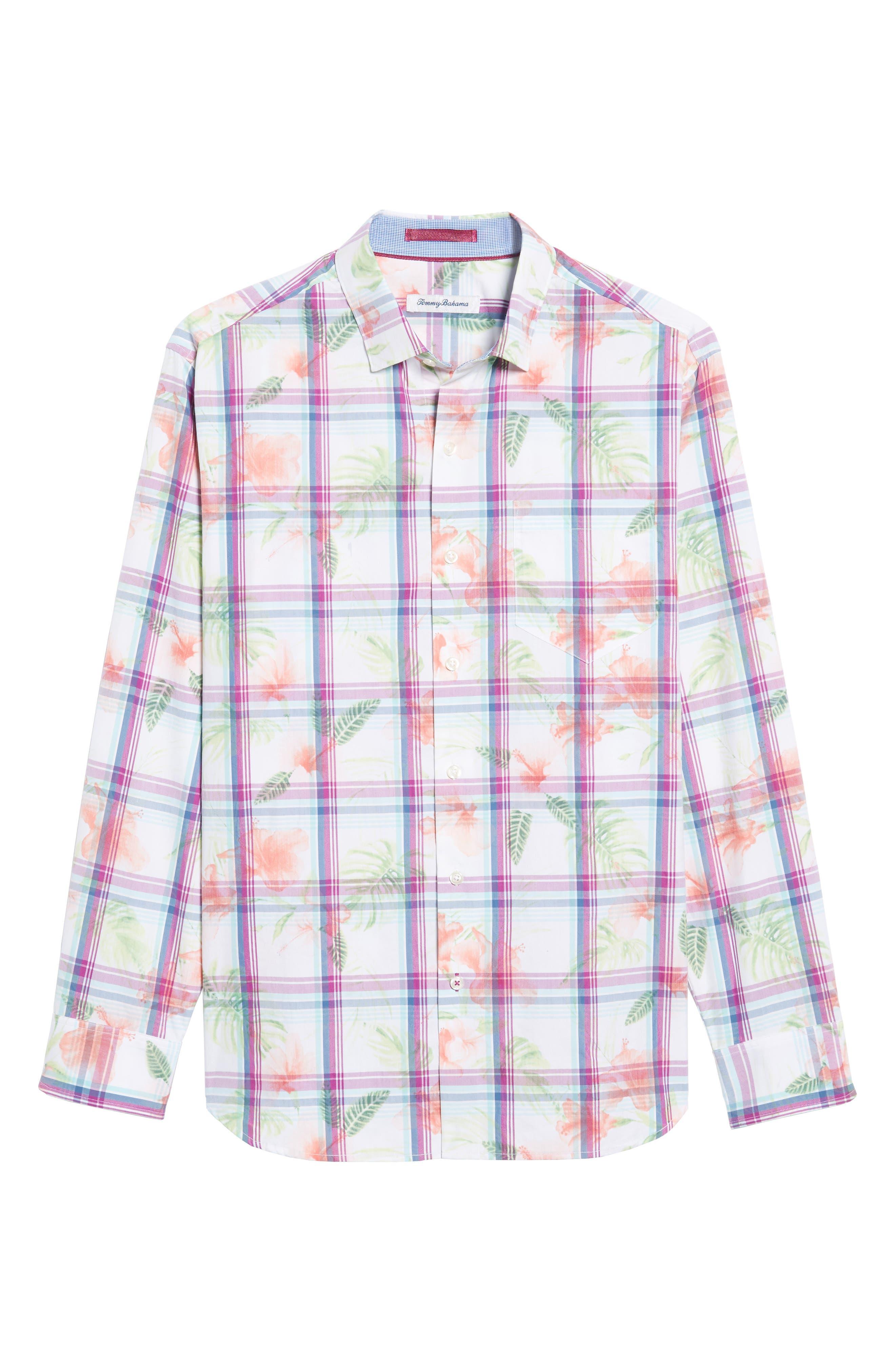 Vedado Regular Fit Plaid Sport Shirt,                             Alternate thumbnail 6, color,                             100