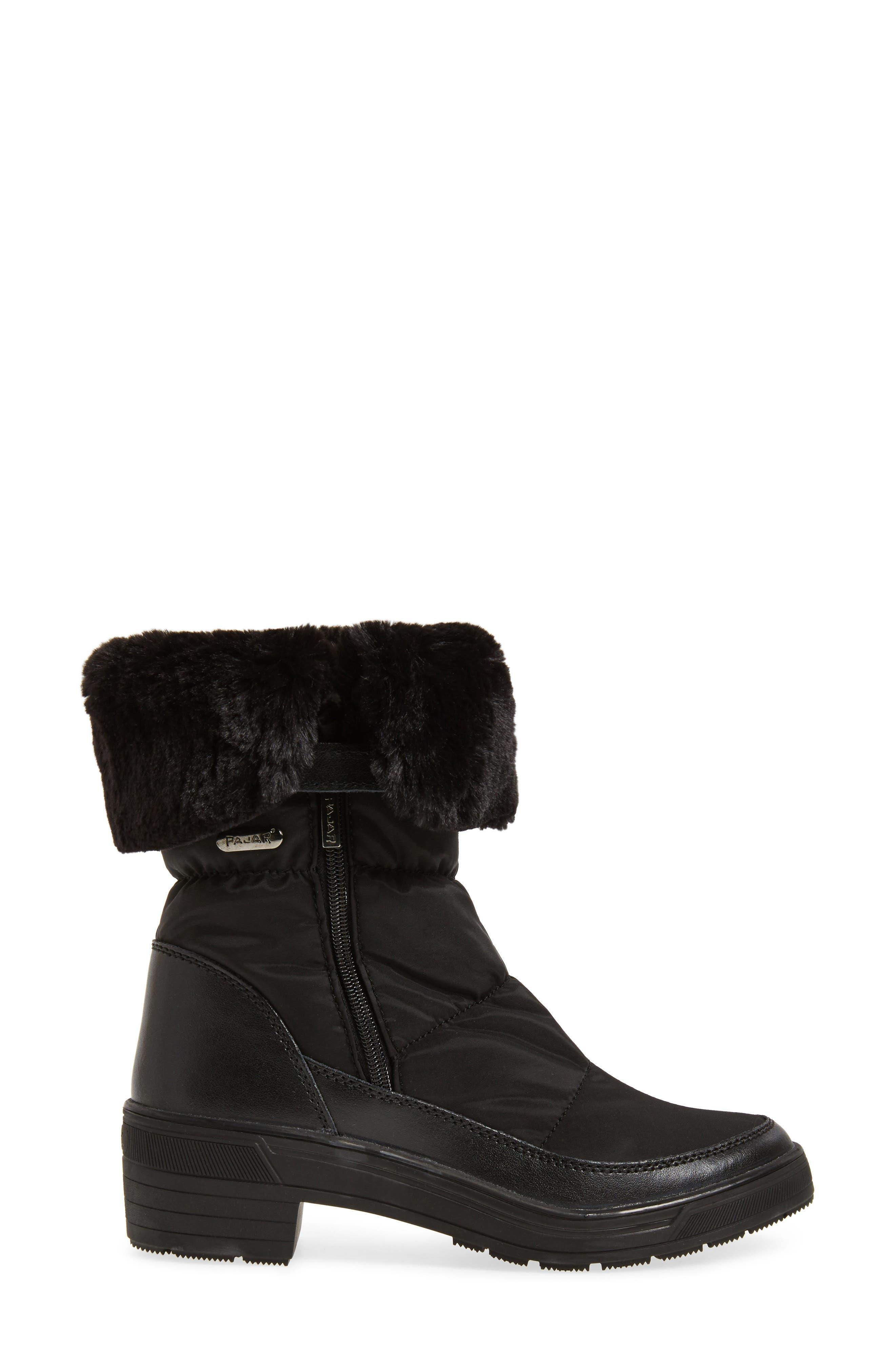 Ventura Weatherproof Faux Fur Lined Boot,                             Alternate thumbnail 3, color,                             001