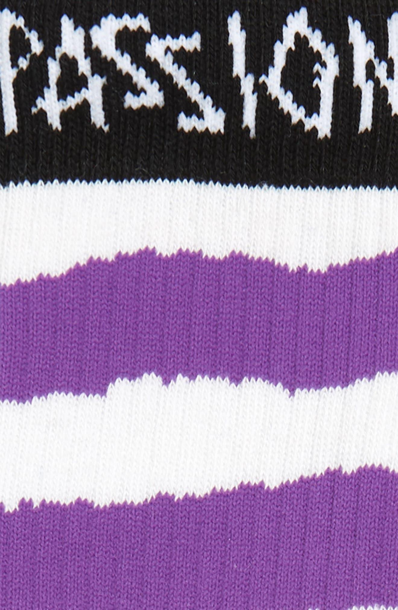 Passion LK Socks,                             Alternate thumbnail 3, color,                             BLACK