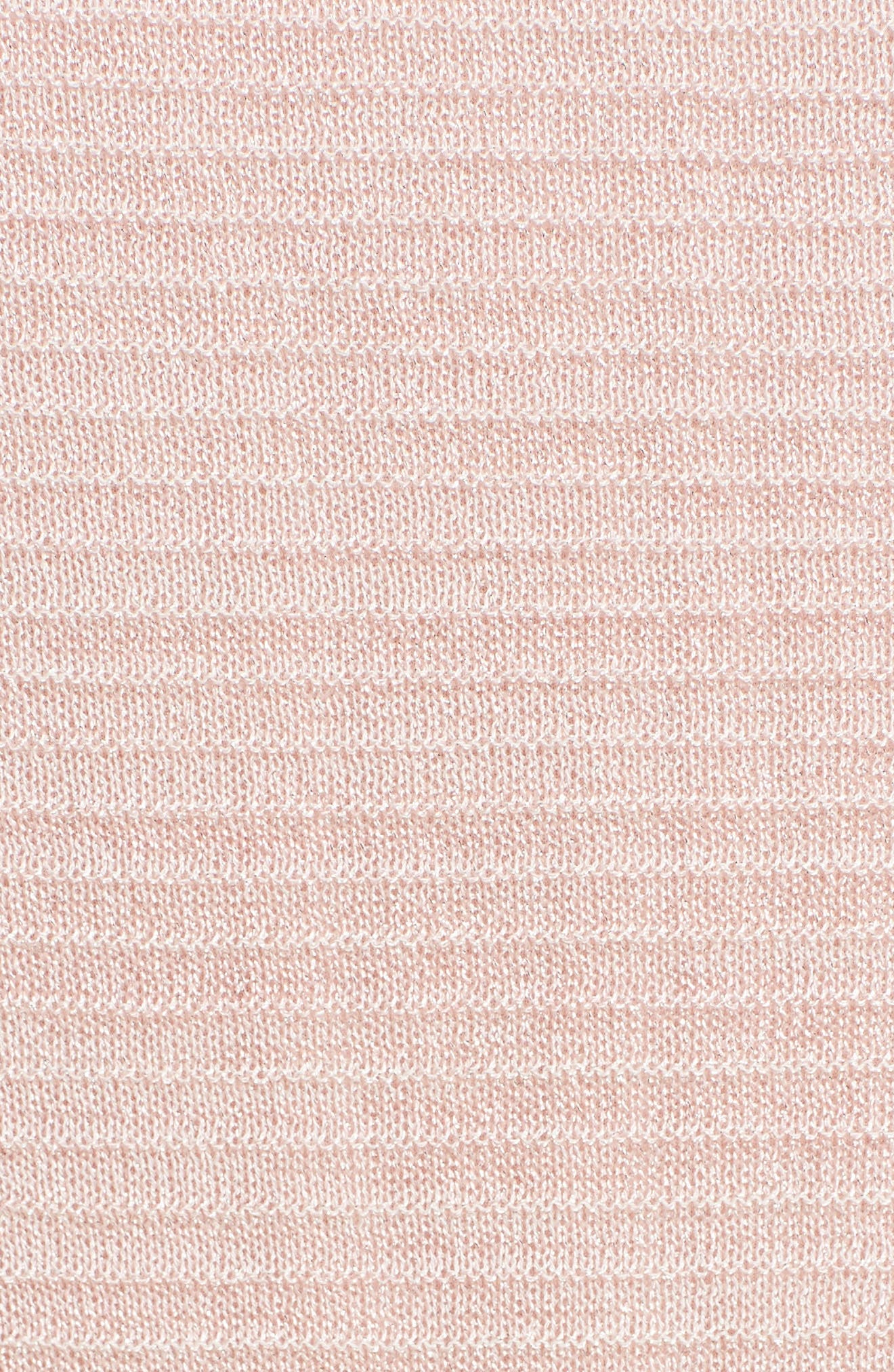 Ruffle Metallic Mouline Knit Dress,                             Alternate thumbnail 5, color,                             661