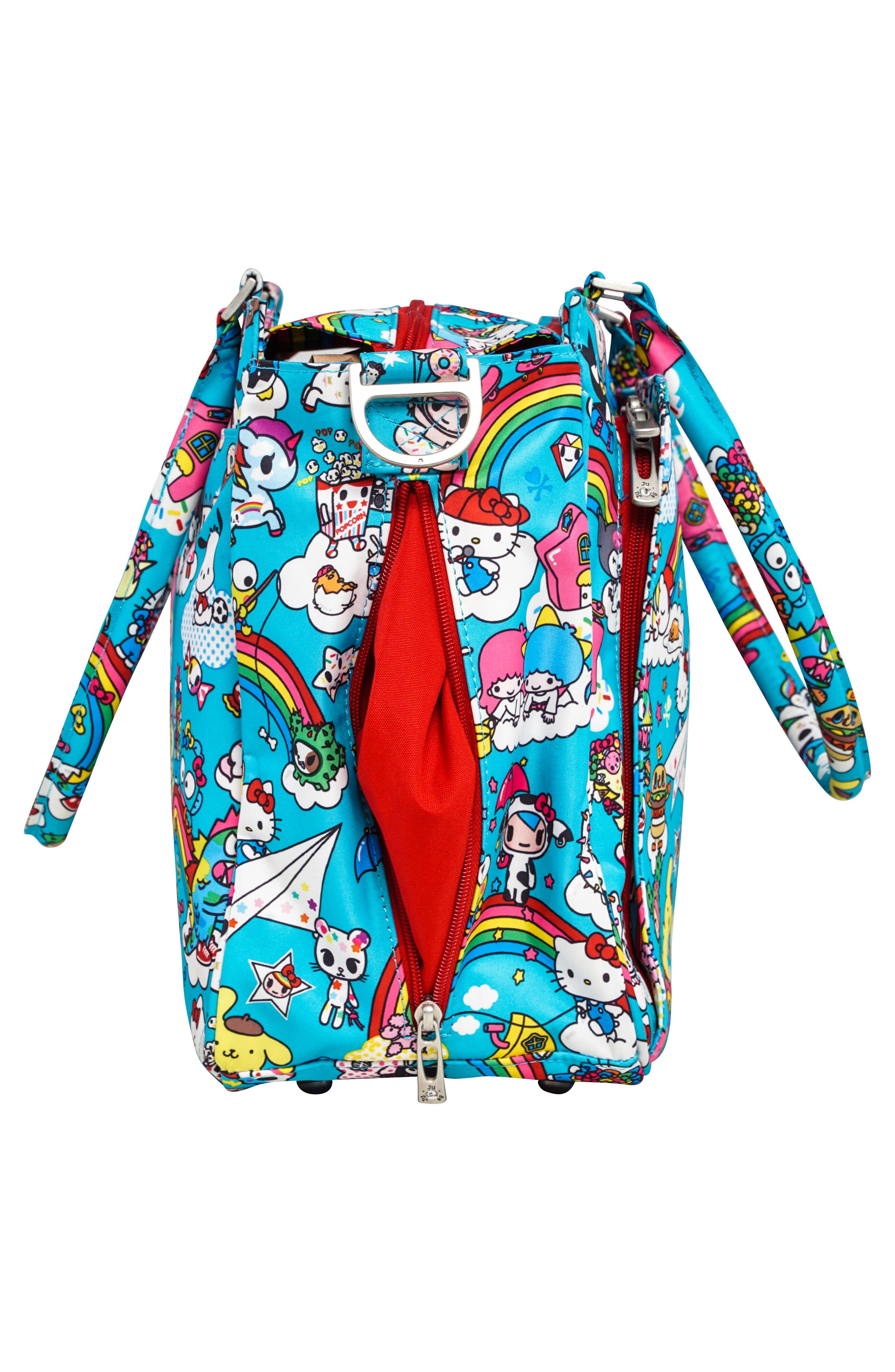 x tokidoki for Hello Sanrio Rainbow Dreams Classy Diaper Bag,                             Alternate thumbnail 2, color,