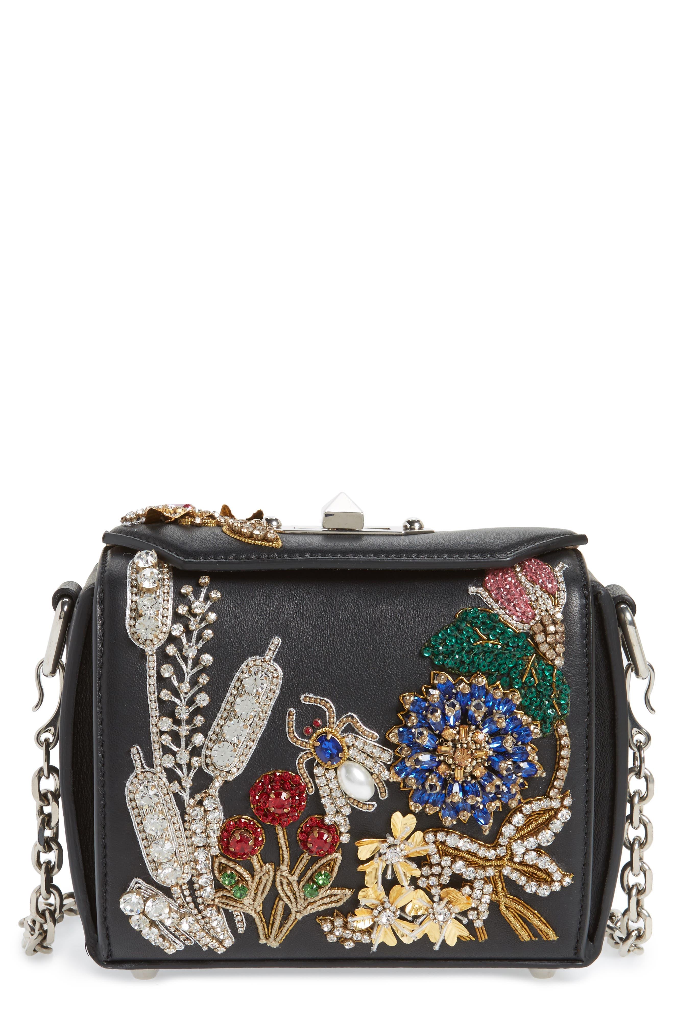 Box Bag 16 Embellished Lambskin Leather Bag,                             Main thumbnail 1, color,