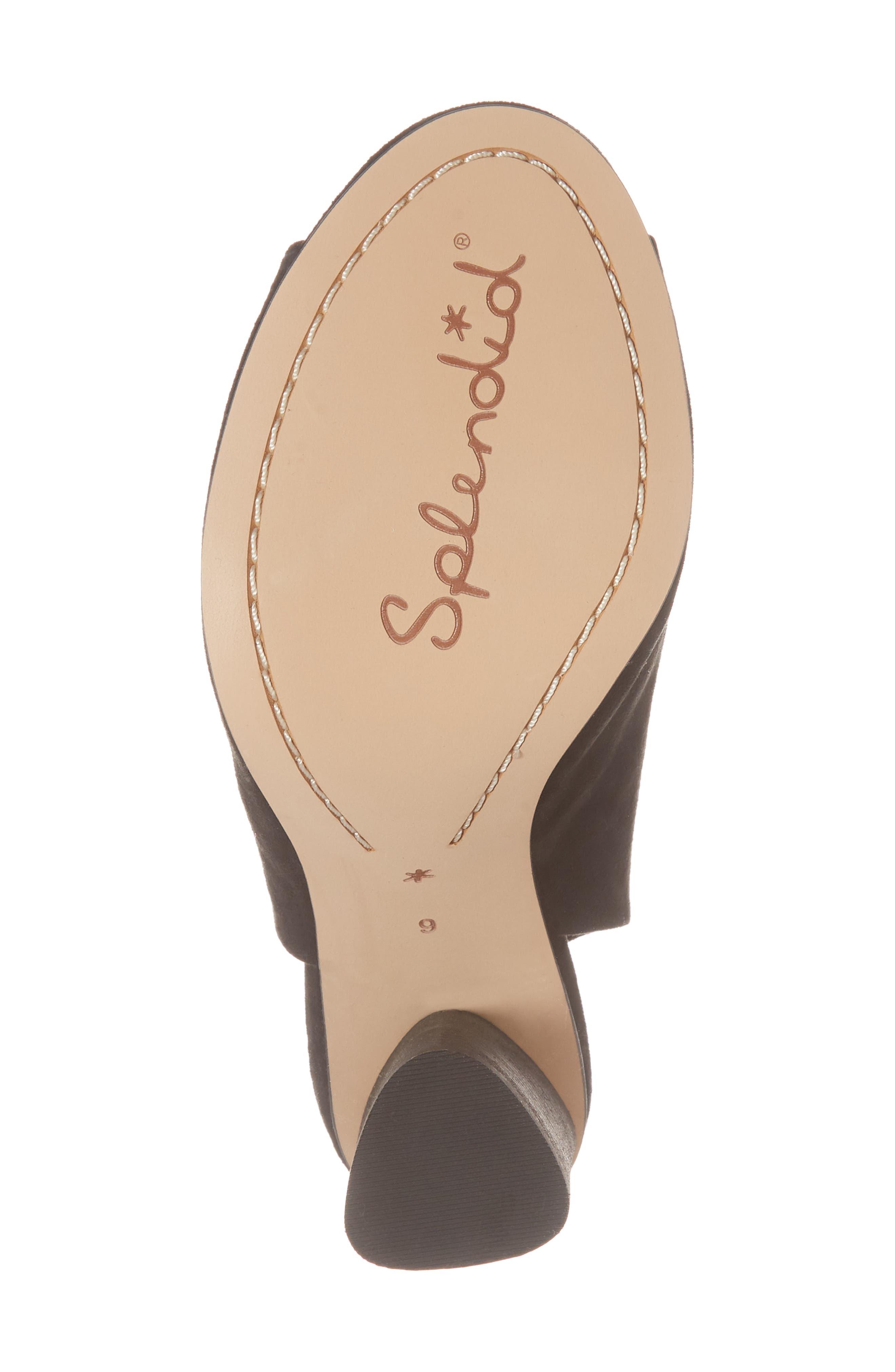 Navarro Ankle Wrap Sandal,                             Alternate thumbnail 6, color,                             BLACK SUEDE