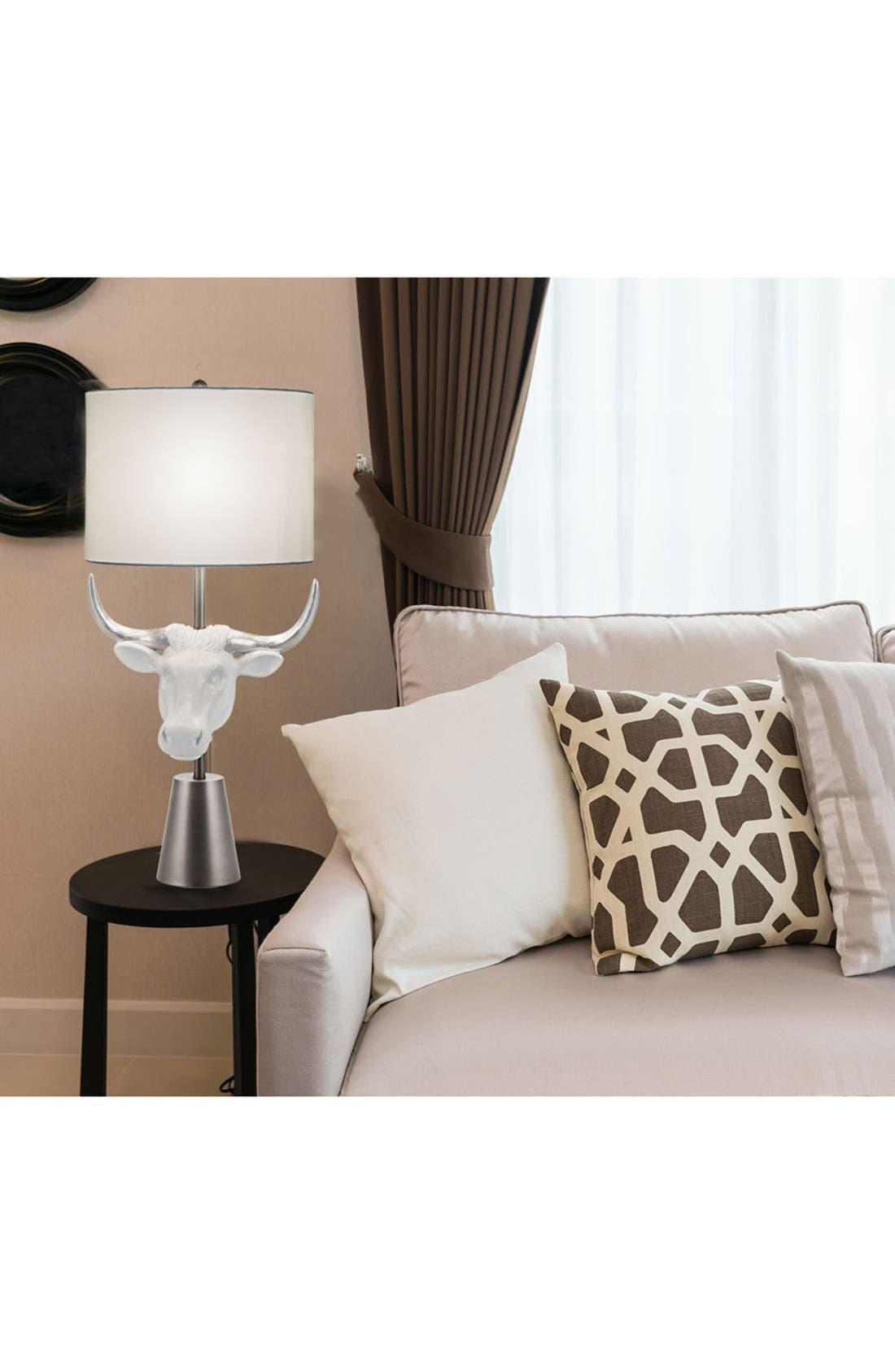 JAlexander 'Bull Head' Table Lamp,                             Alternate thumbnail 2, color,