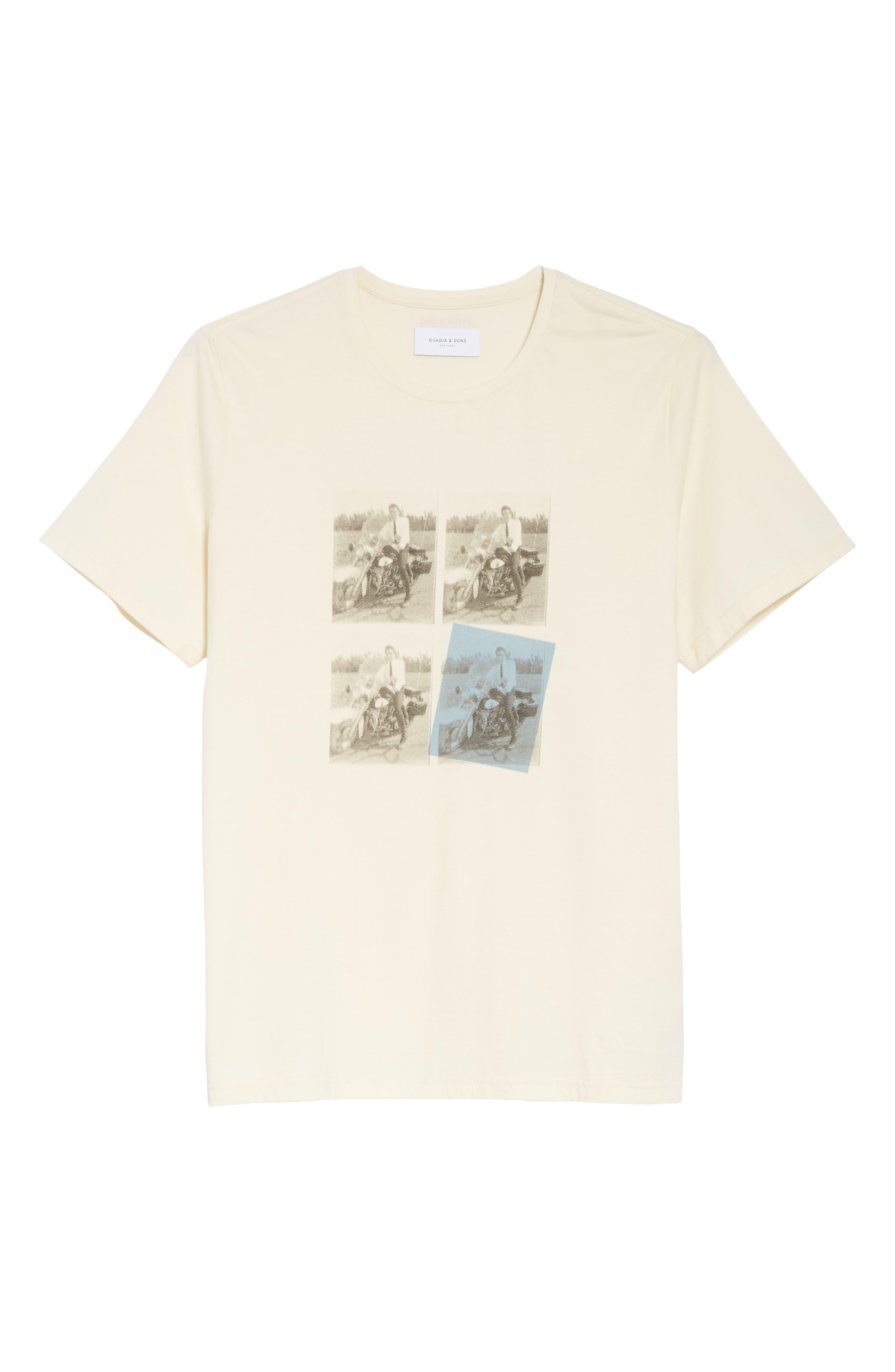 Elvis Graphic T-Shirt,                             Alternate thumbnail 6, color,                             OFF WHITE