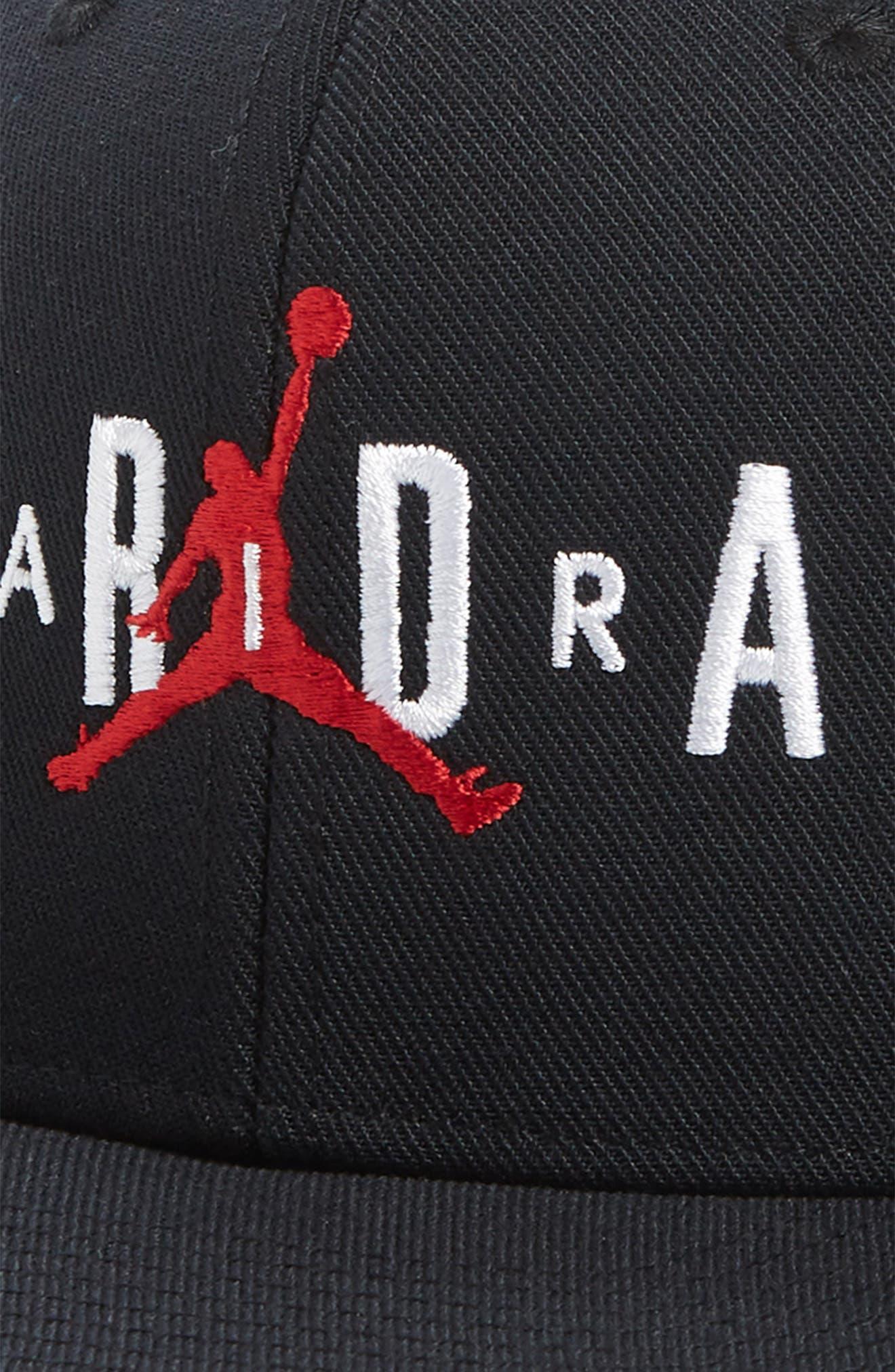 Jordan Jumpman Air Baseball Cap,                             Alternate thumbnail 3, color,                             BLACK